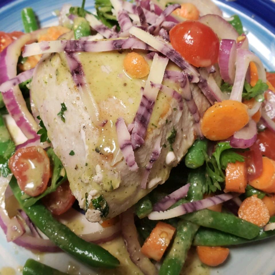 Pan Seared Tuna with Citrus-Herb Vinaigrette Mike Stratmann