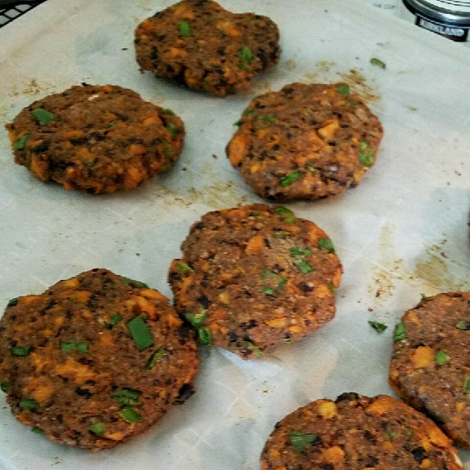 Black Bean Burgers with Sweet Potato Darren Stortz