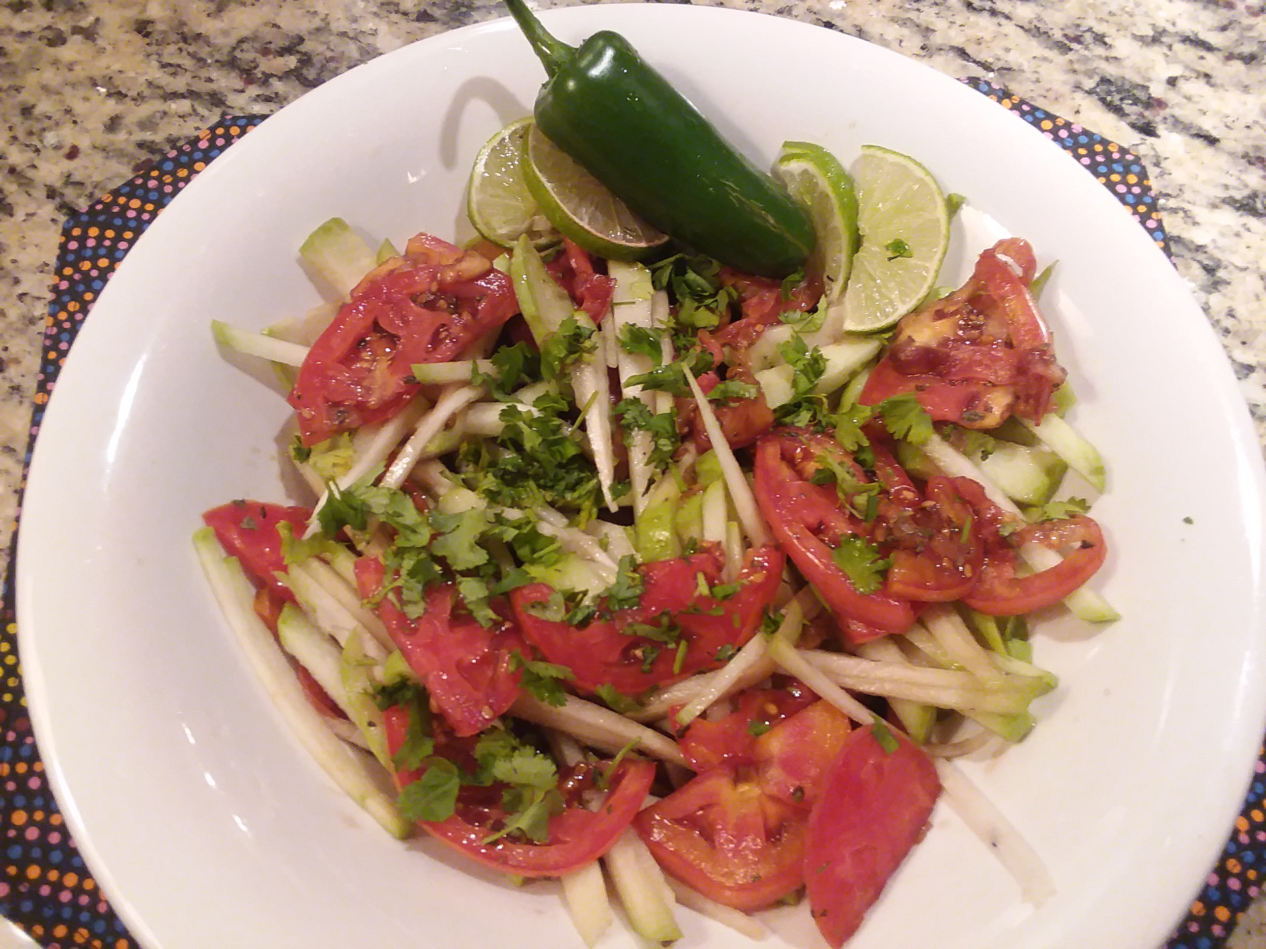 Spicy Balsamic Tomato Salad