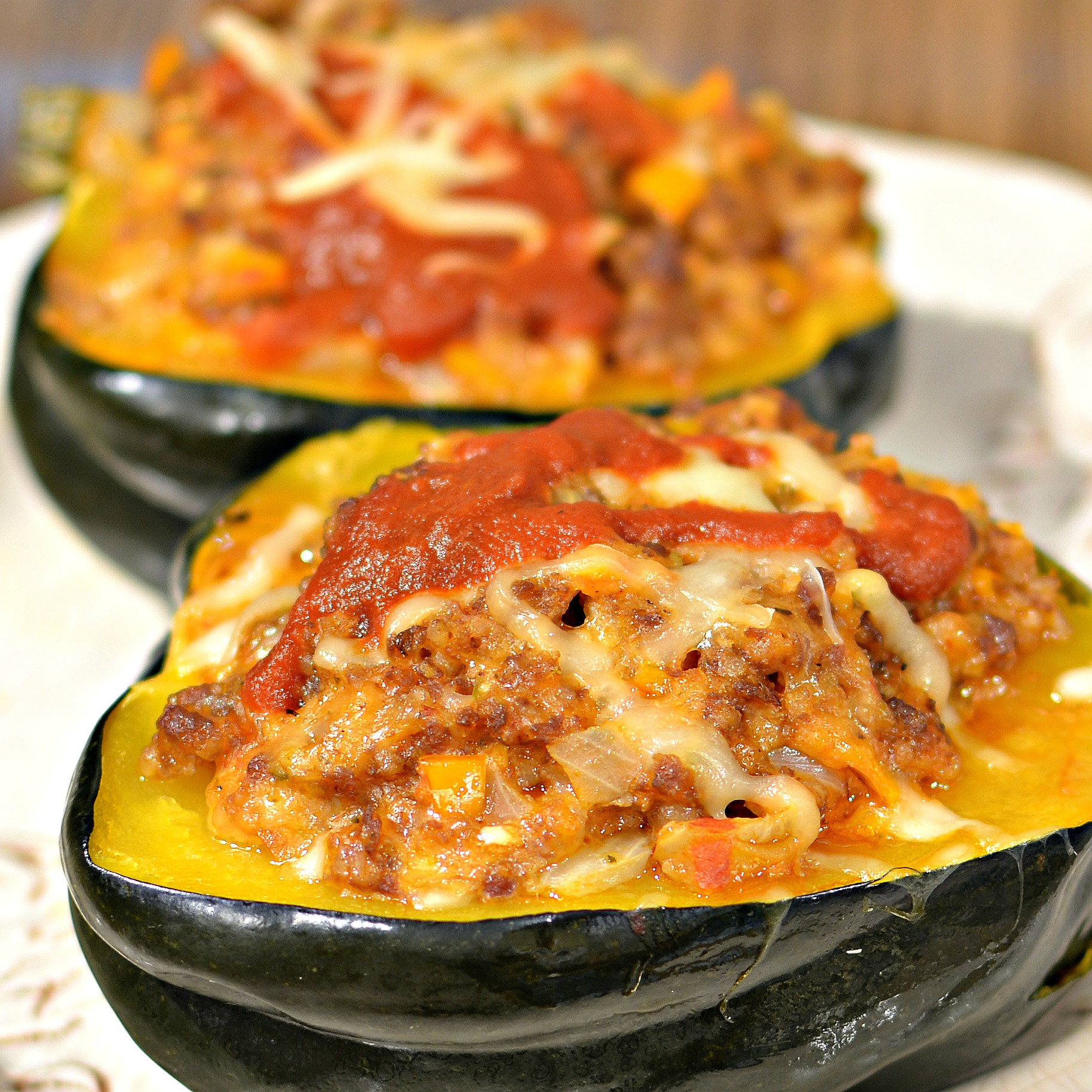 Instant Pot® Acorn Squash Stuffed with Italian Sausage