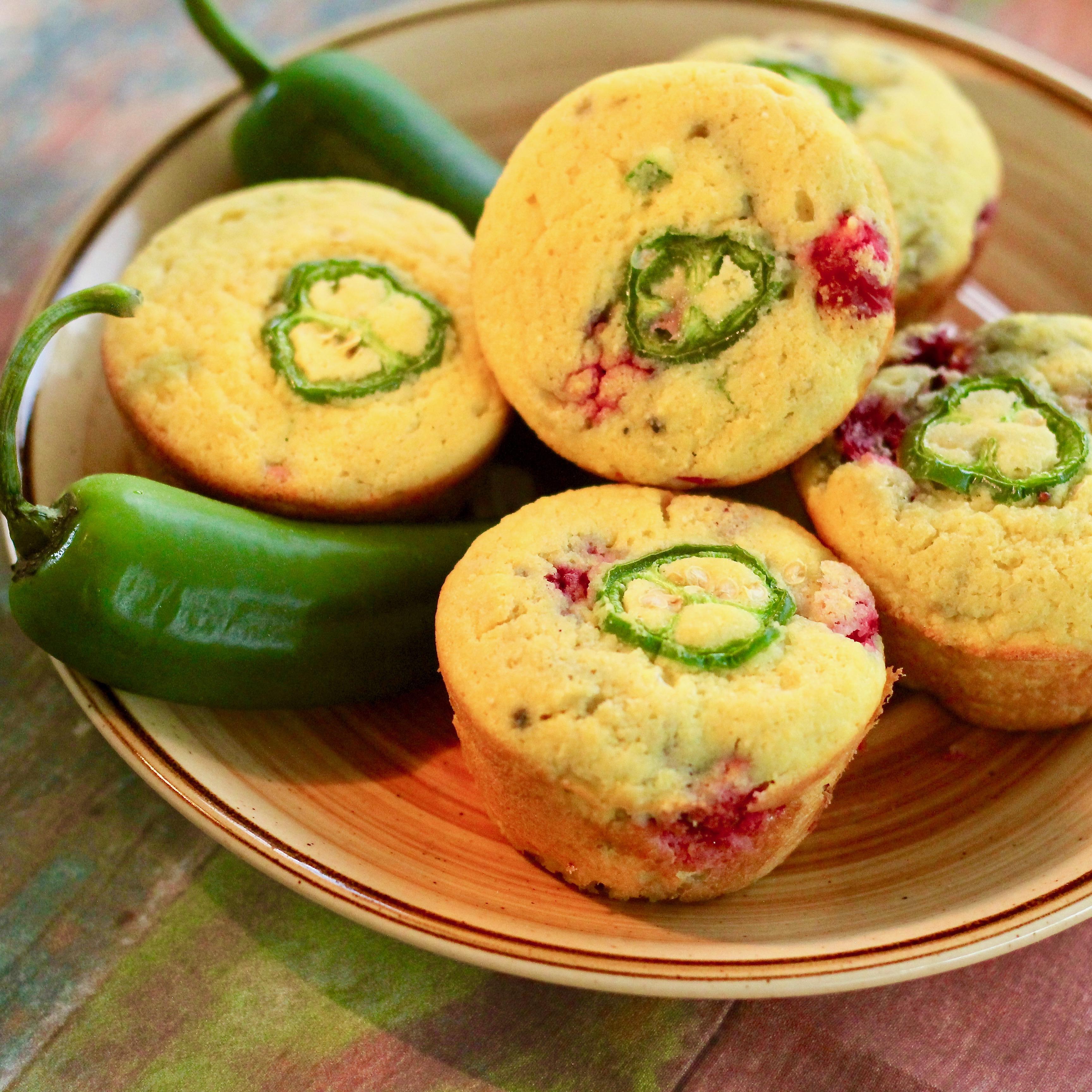 Cranberry Jalapeno  Cornbread  Muffins