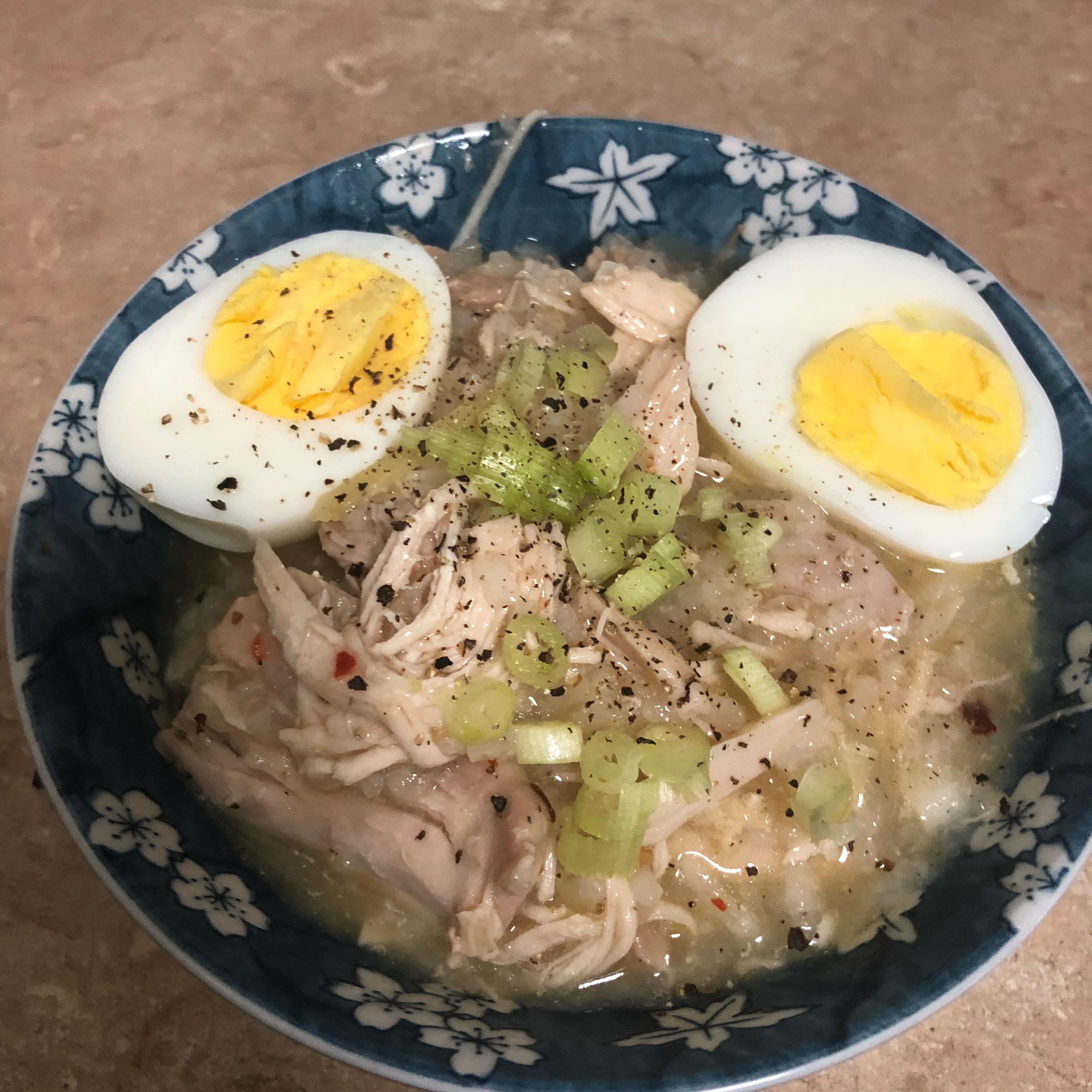 Chicken Arroz Caldo (Chicken Rice Porridge)
