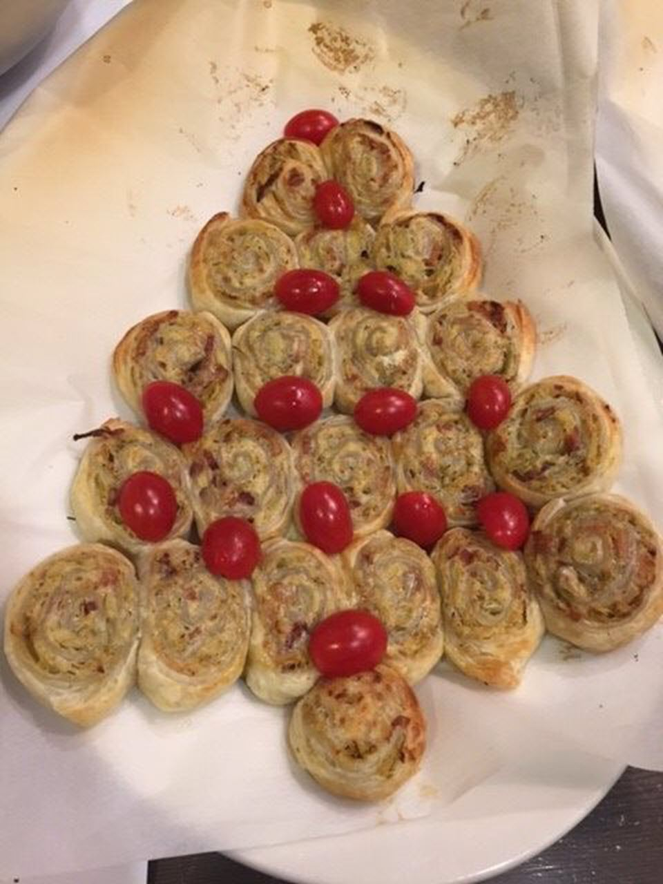 Puff Pastry Pull-Apart Christmas Tree