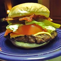 Juicy Deer and Bacon Burgers