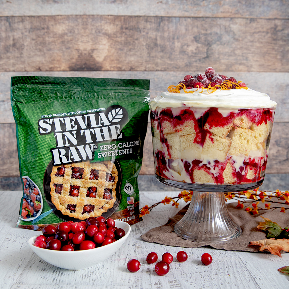 Cranberry Custard Trifle In The Raw