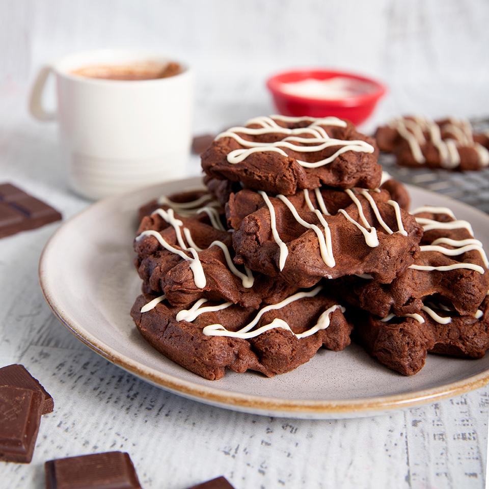 Spiced Chocolate Waffle Cookies