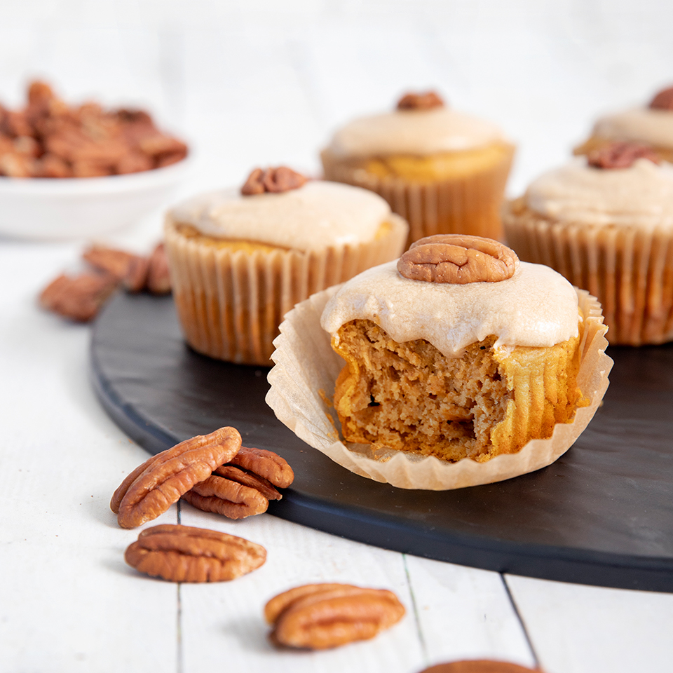 Sweet Potato Cupcakes with Maple Buttercream