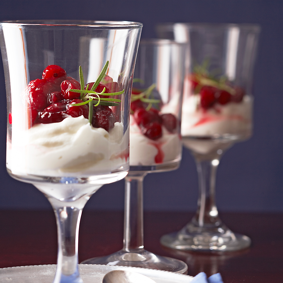 Yogurt with Rosemary-Red Fruit Compote Diabetic Living Magazine