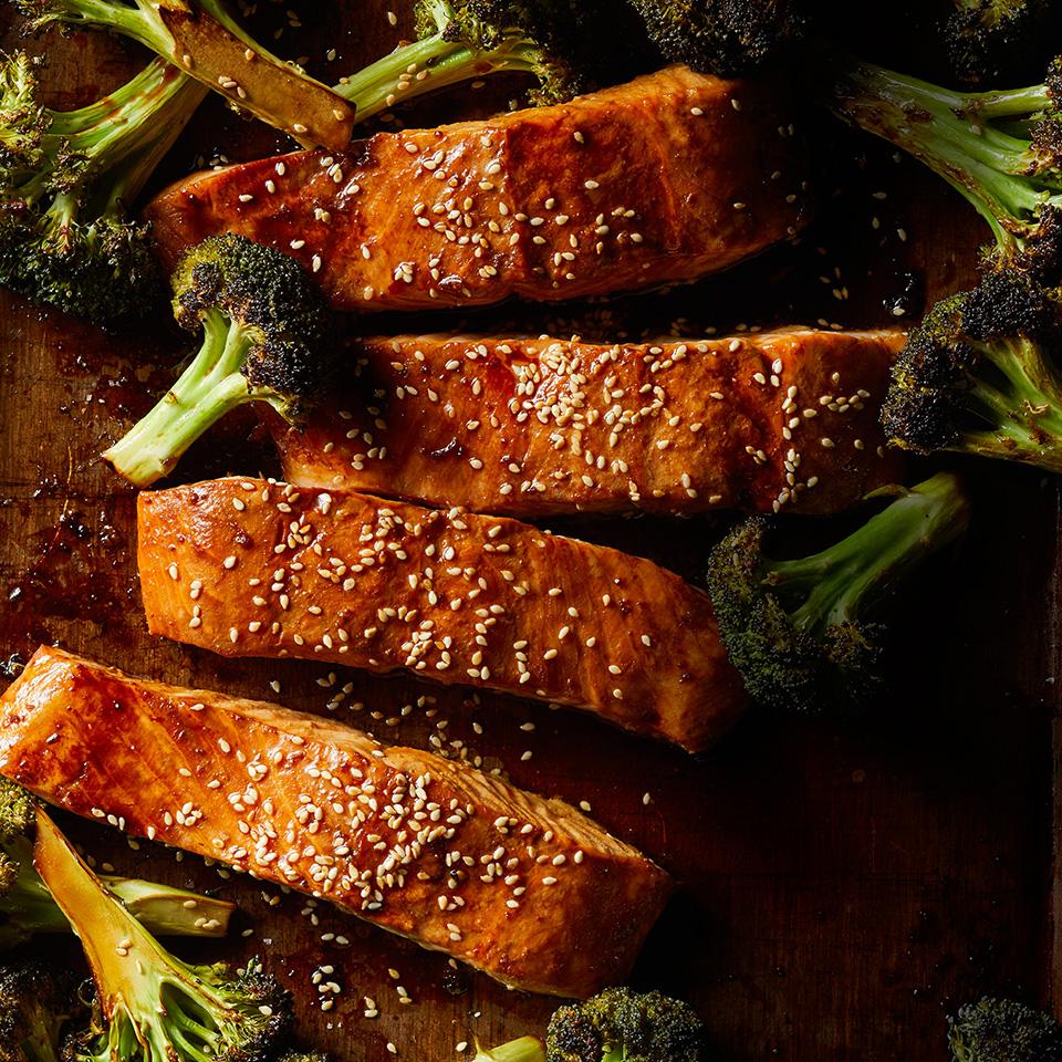 Ginger Roasted Salmon & Broccoli Breana Killeen