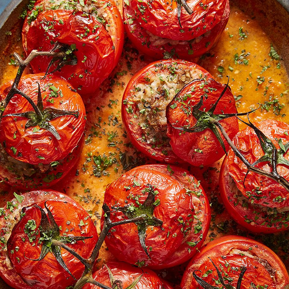 Tomato Dolma with Roasted Eggplant (Köz Patlicanli Domates Dolmasi) Trusted Brands