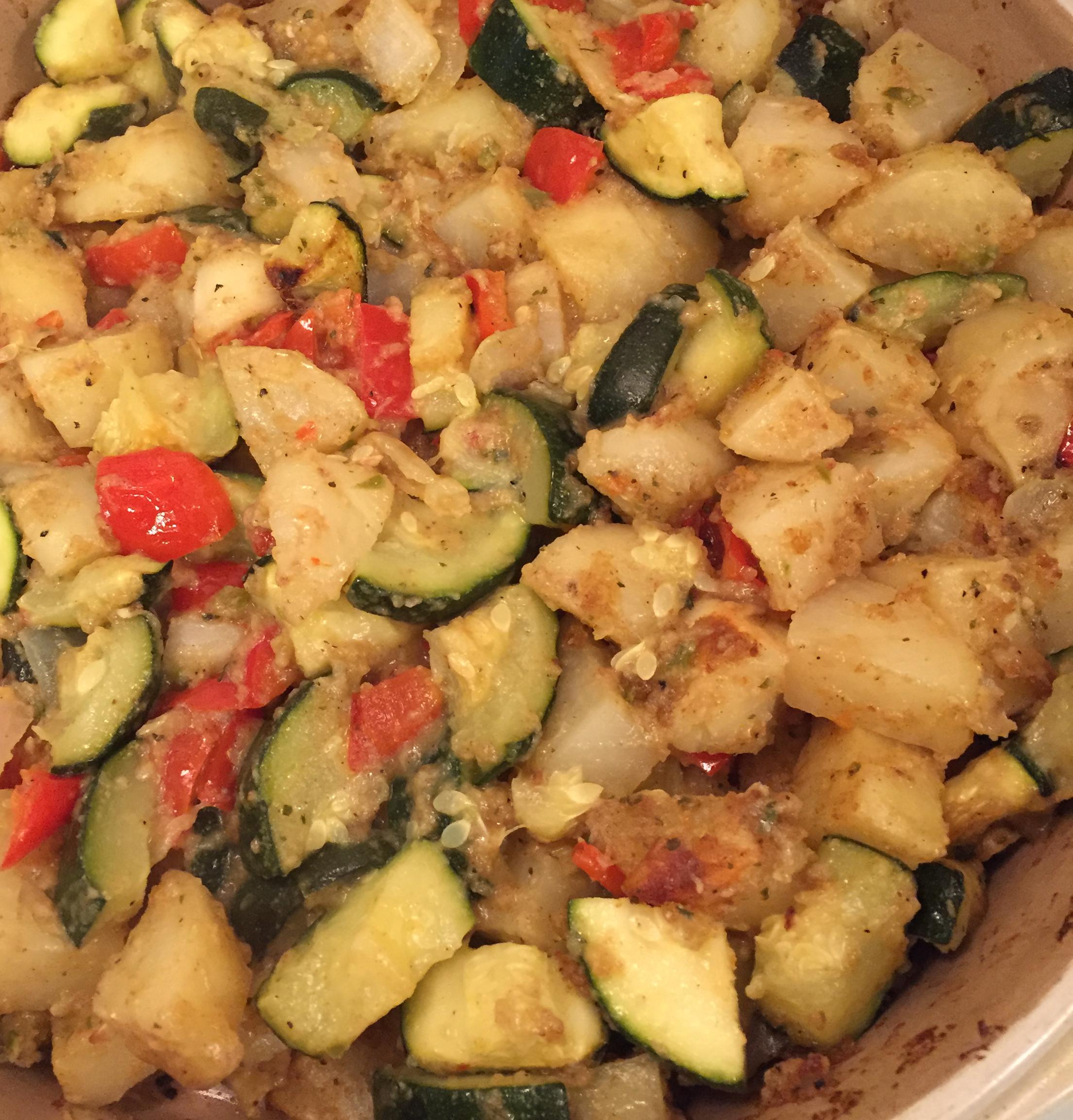Zucchini and Potato Bake Larry