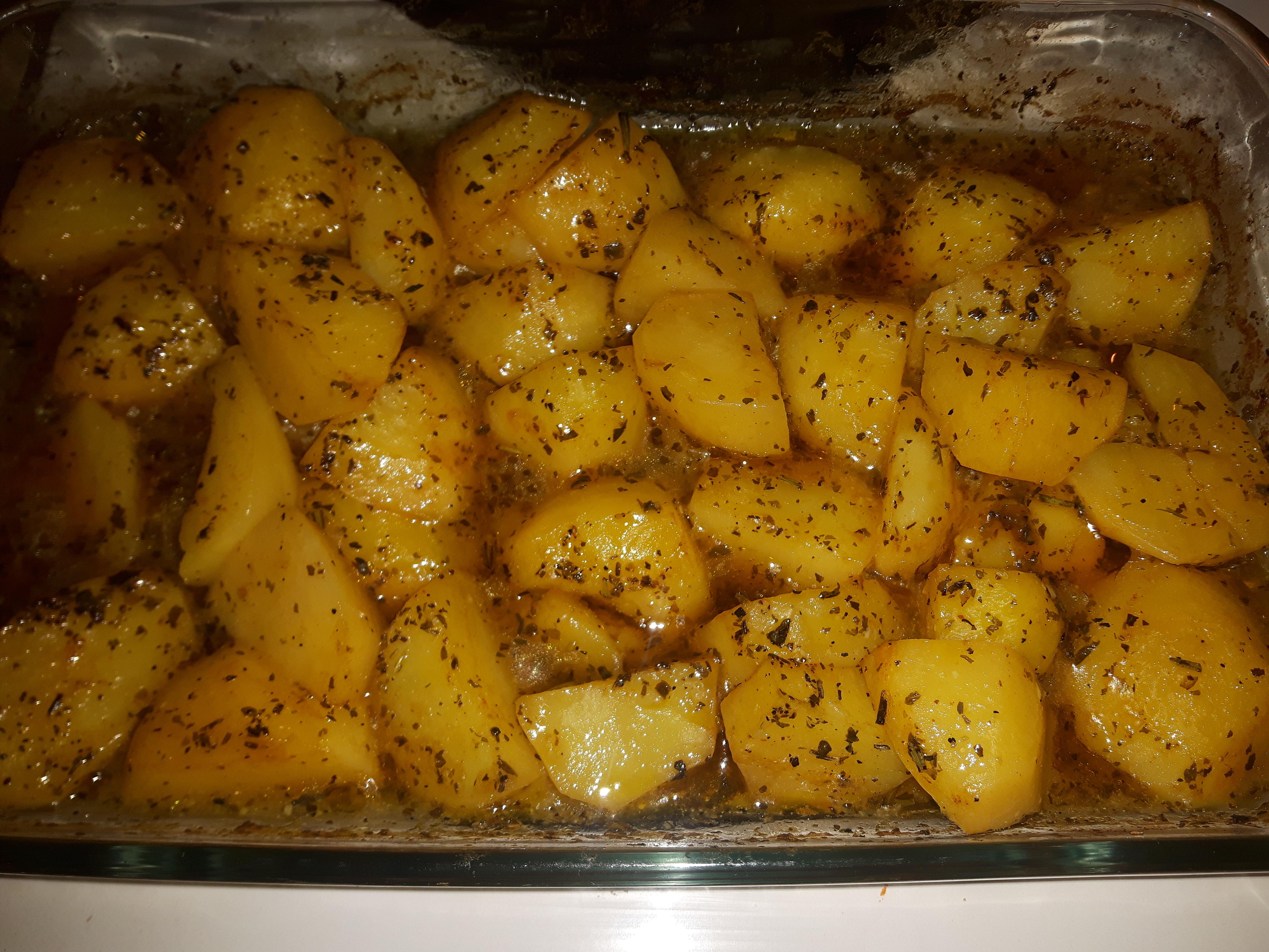 Greek Style Potatoes