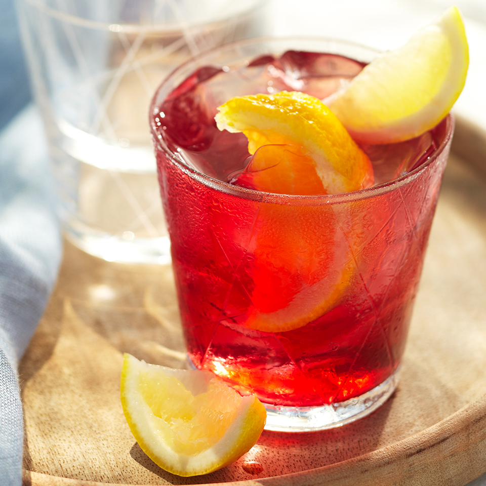 Goji berries and hibiscus flowers are steeped in boiling water with agave and cinnamon sticks. This flavorful tea is refreshing and can be enjoyed hot, but we suggest drinking it ice-cold.