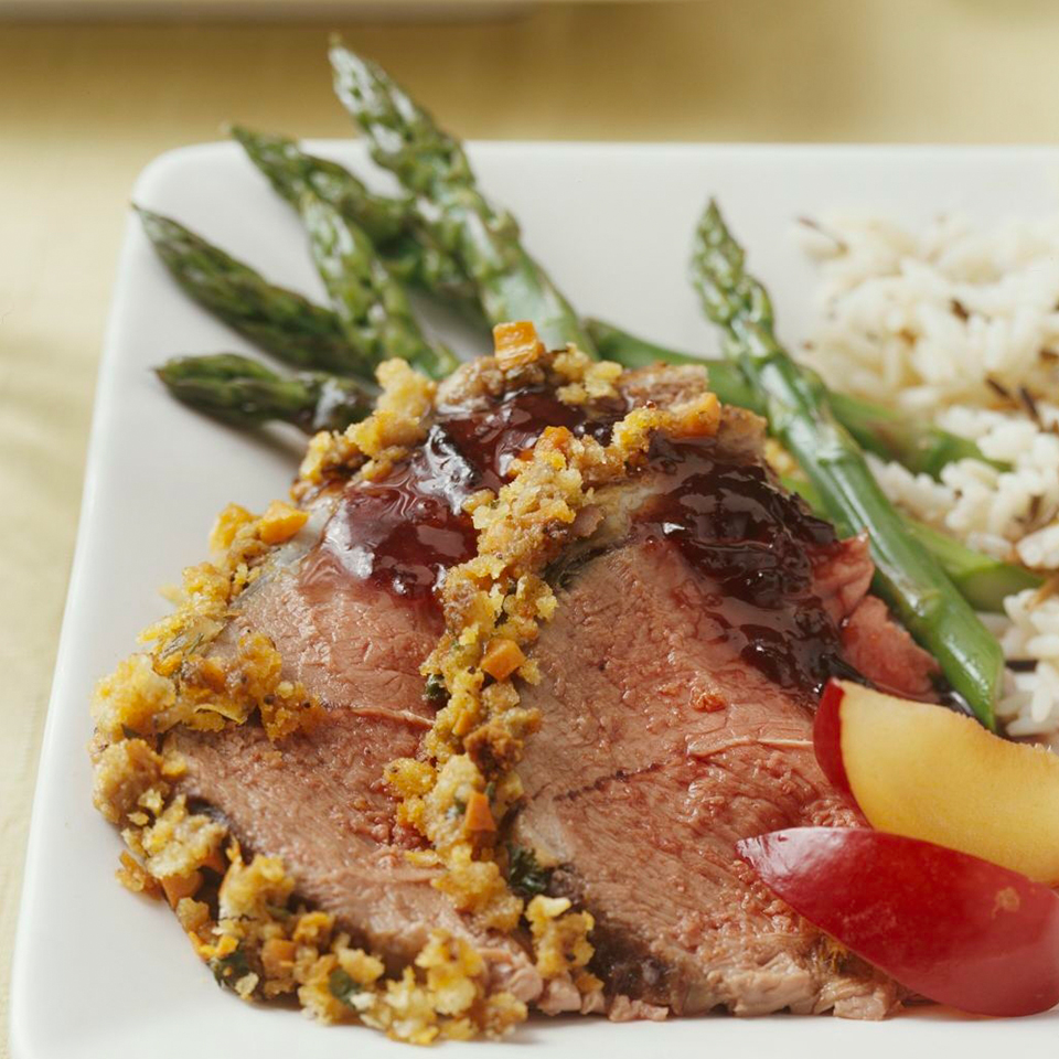 Roasted Lamb with Plum Sauce Diabetic Living Magazine