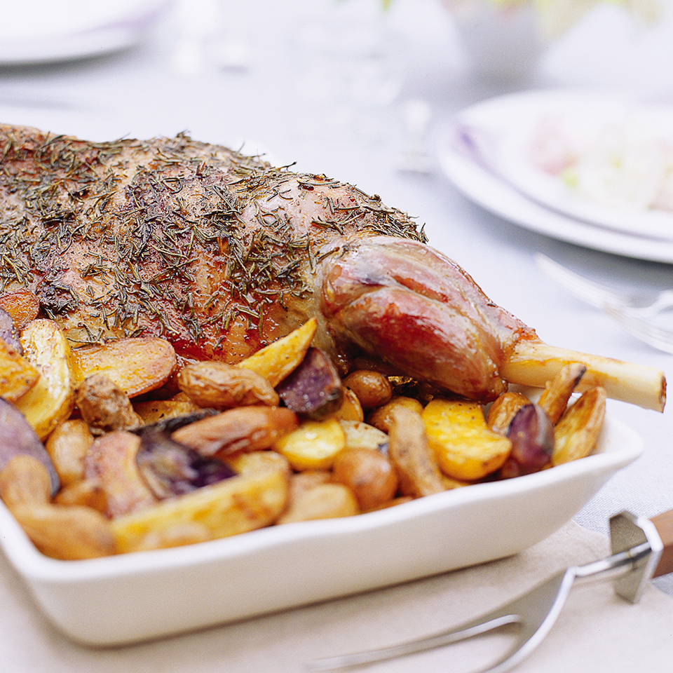 Rosemary-Roasted Leg of Lamb Trusted Brands