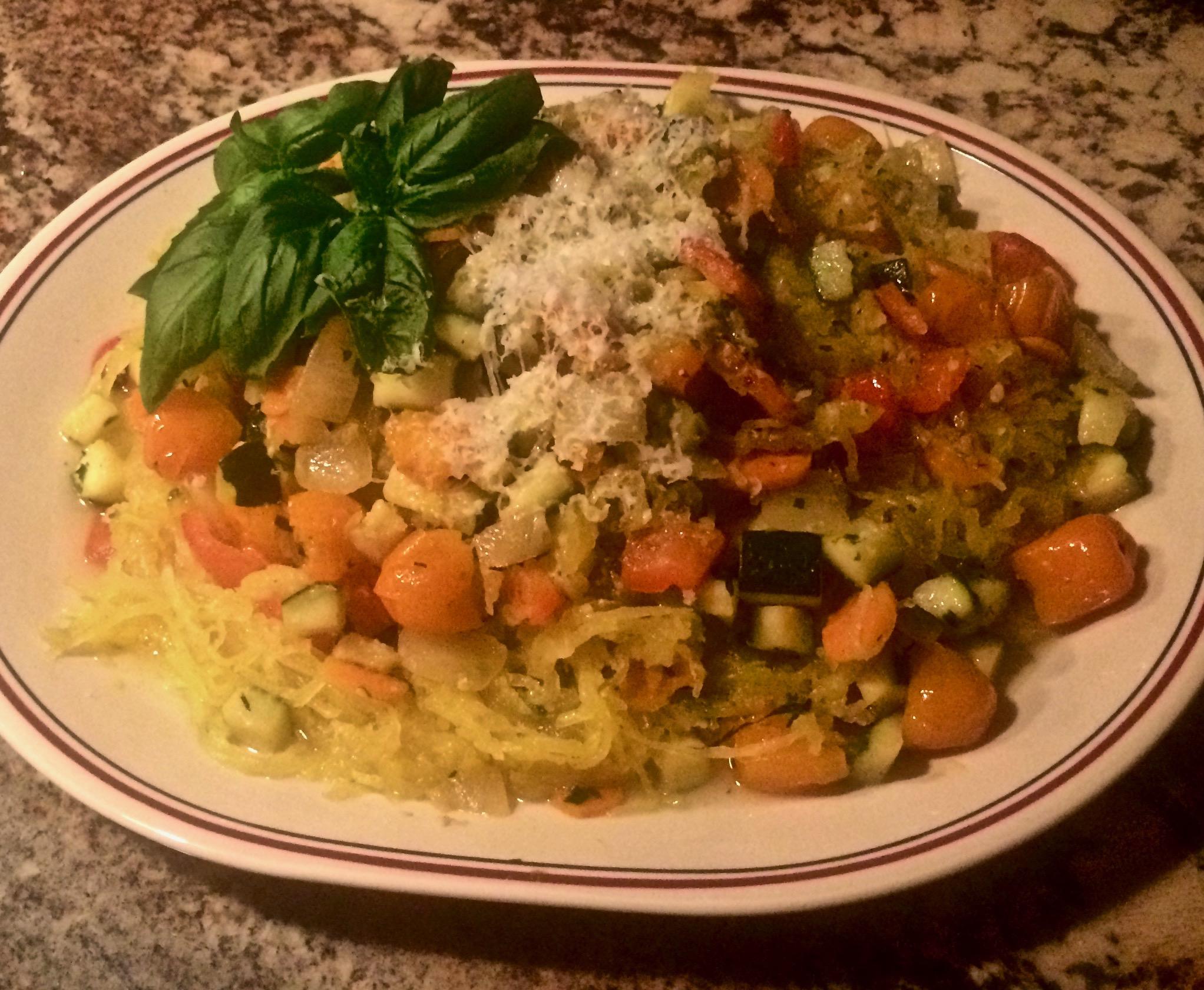 Instant Pot® Spaghetti Squash Primavera Bibi