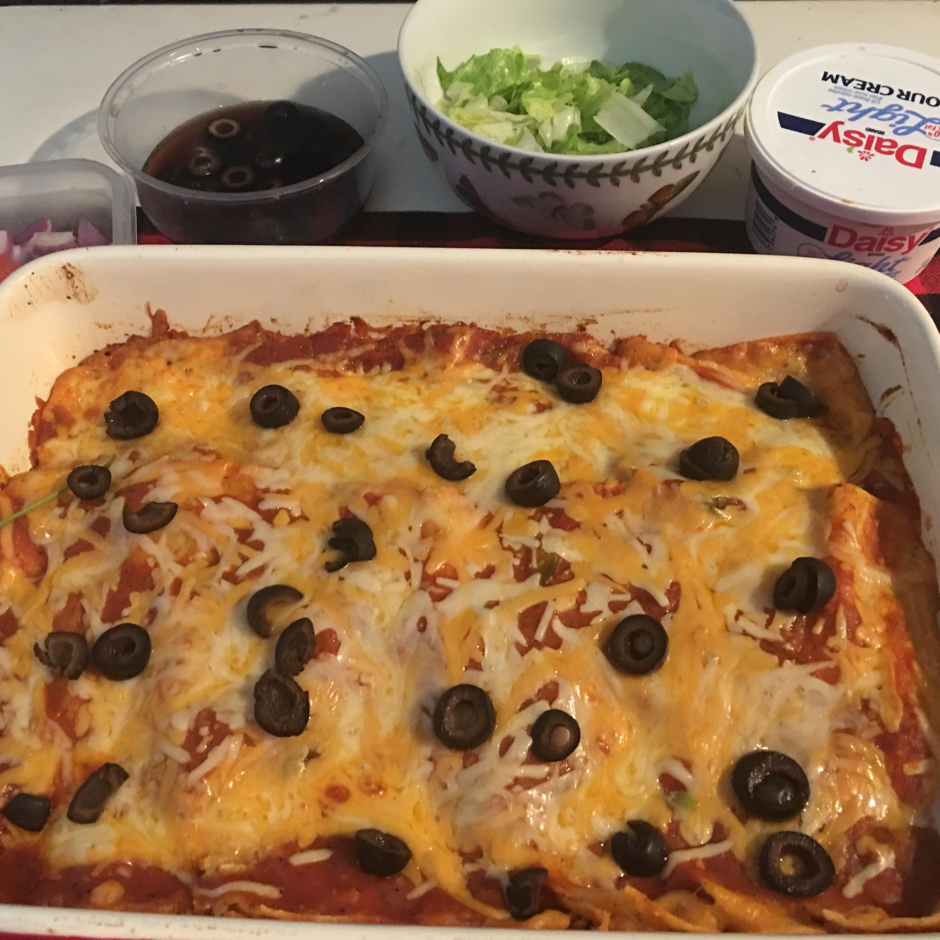 Refried Bean and Cheese Enchiladas Michele Rodrigues-Sandberg