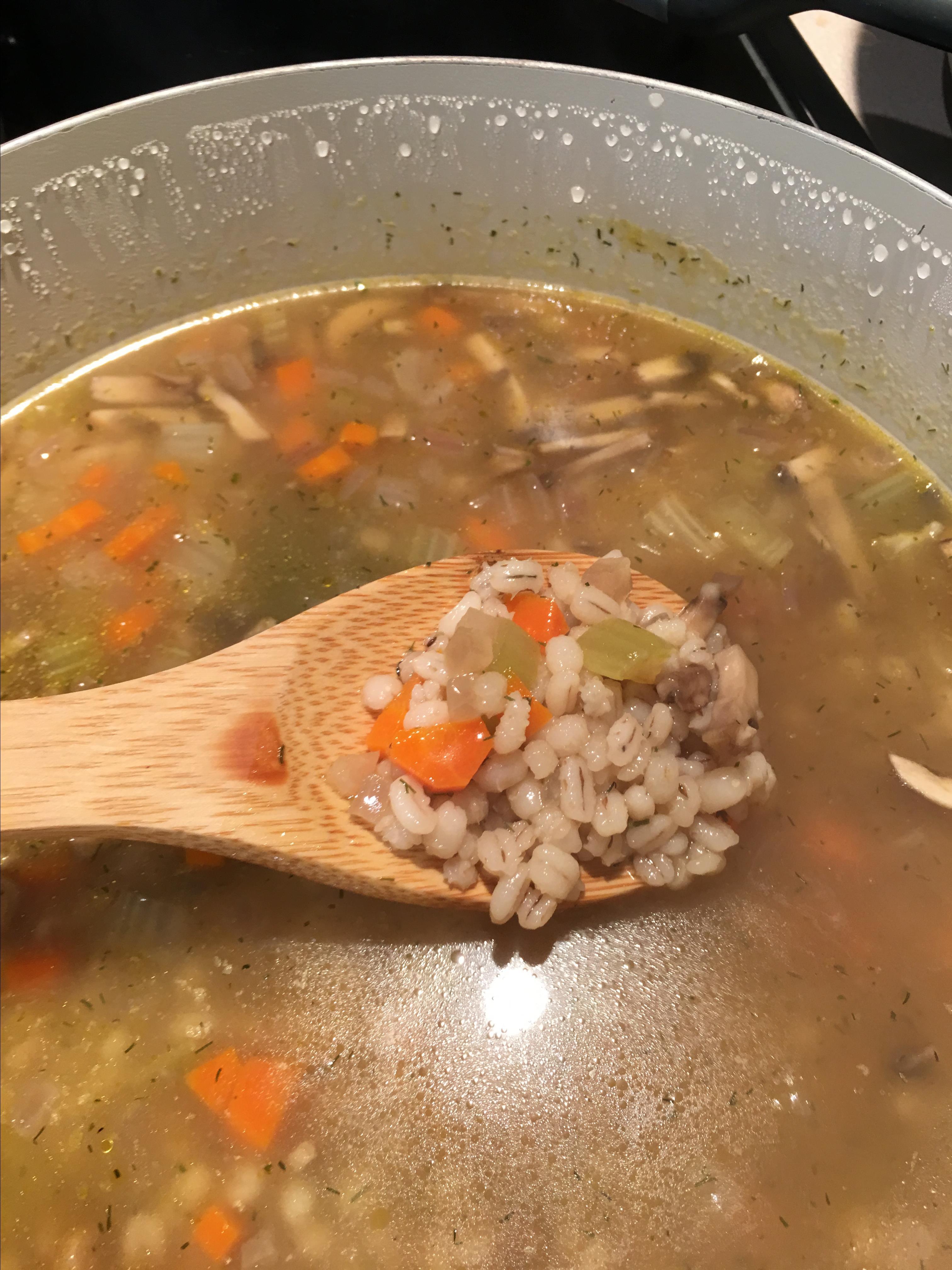 Dilled Vegetable Barley Soup Asela Oliveras