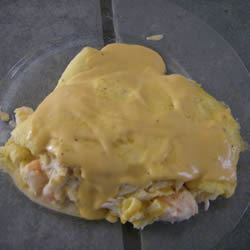 Seafood Omelets with Creamy Cheese Sauce Amy Ruffin