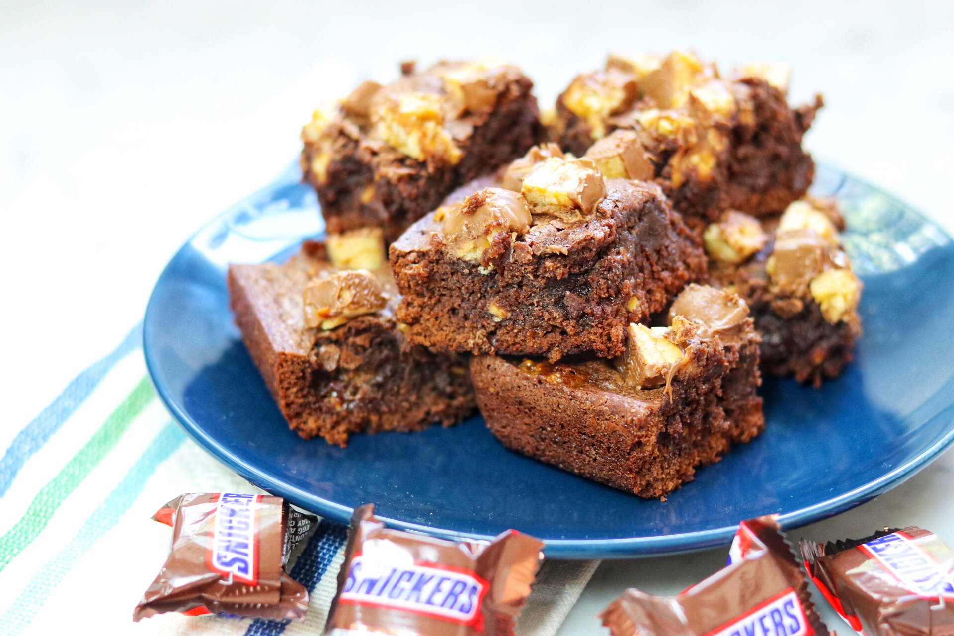Snickers® Brownies fabeverydayblog