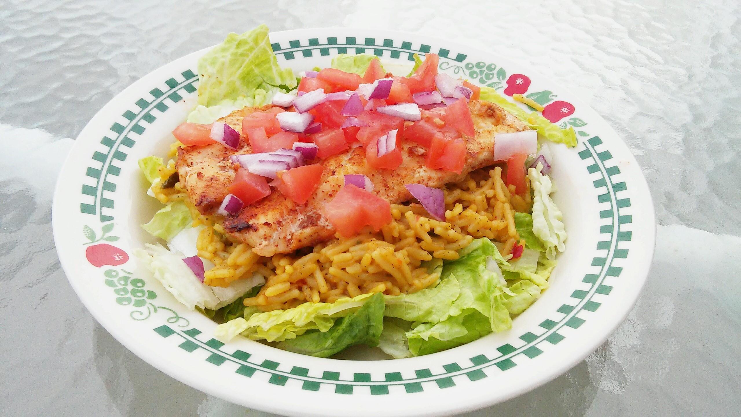 Mexican Rice and Tilapia Salad Tammy Lynn