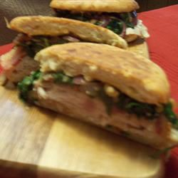Turkey and Bacon Panini with Chipotle Mayonnaise Rae