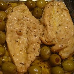 Chicken Breasts with Olives