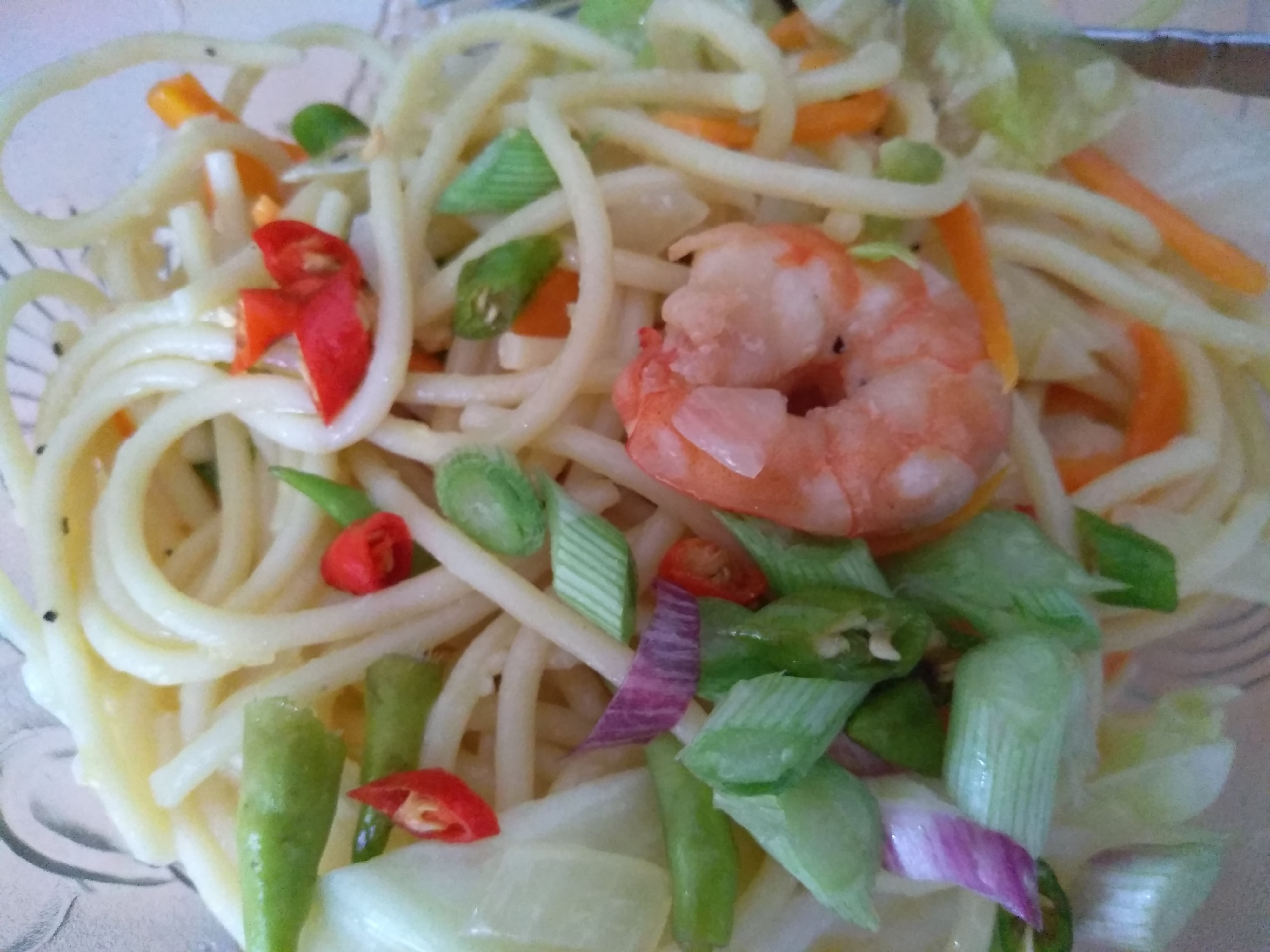 Shrimp Scampi with Pasta han xiang