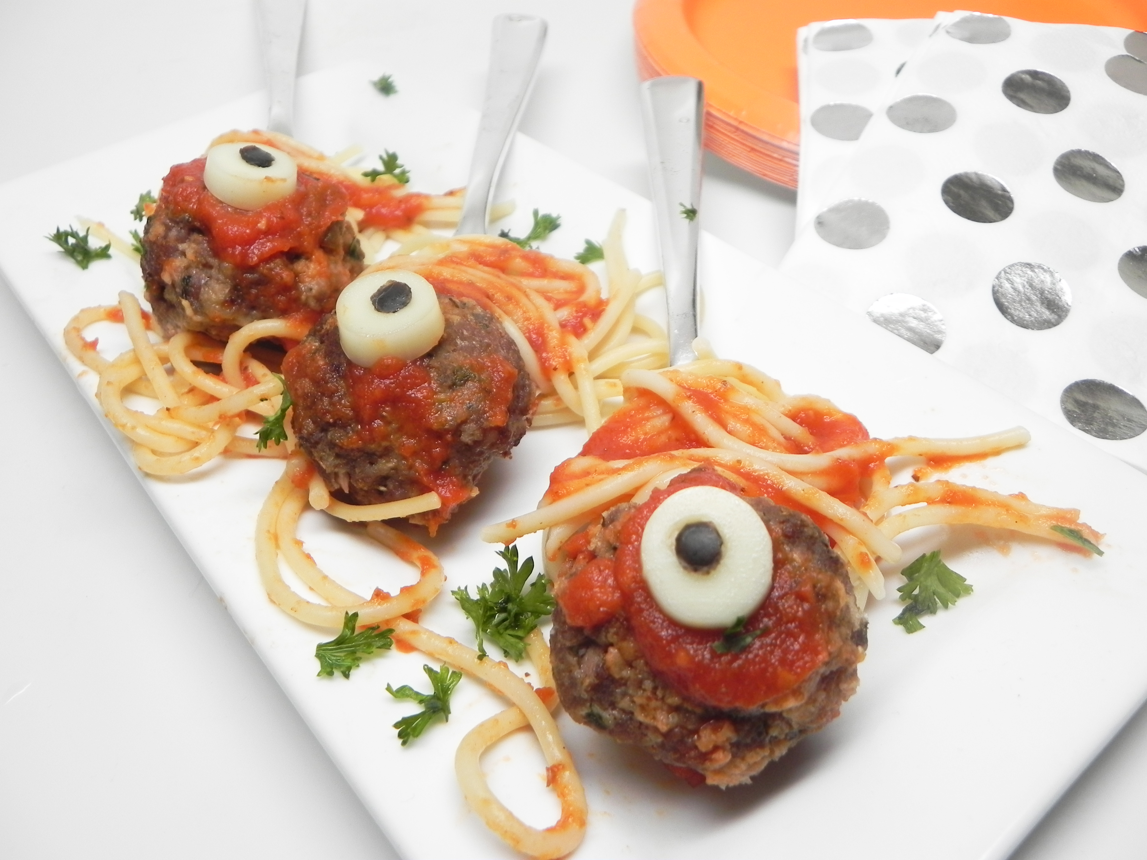 Zombie Eyes (Halloween Meatballs)