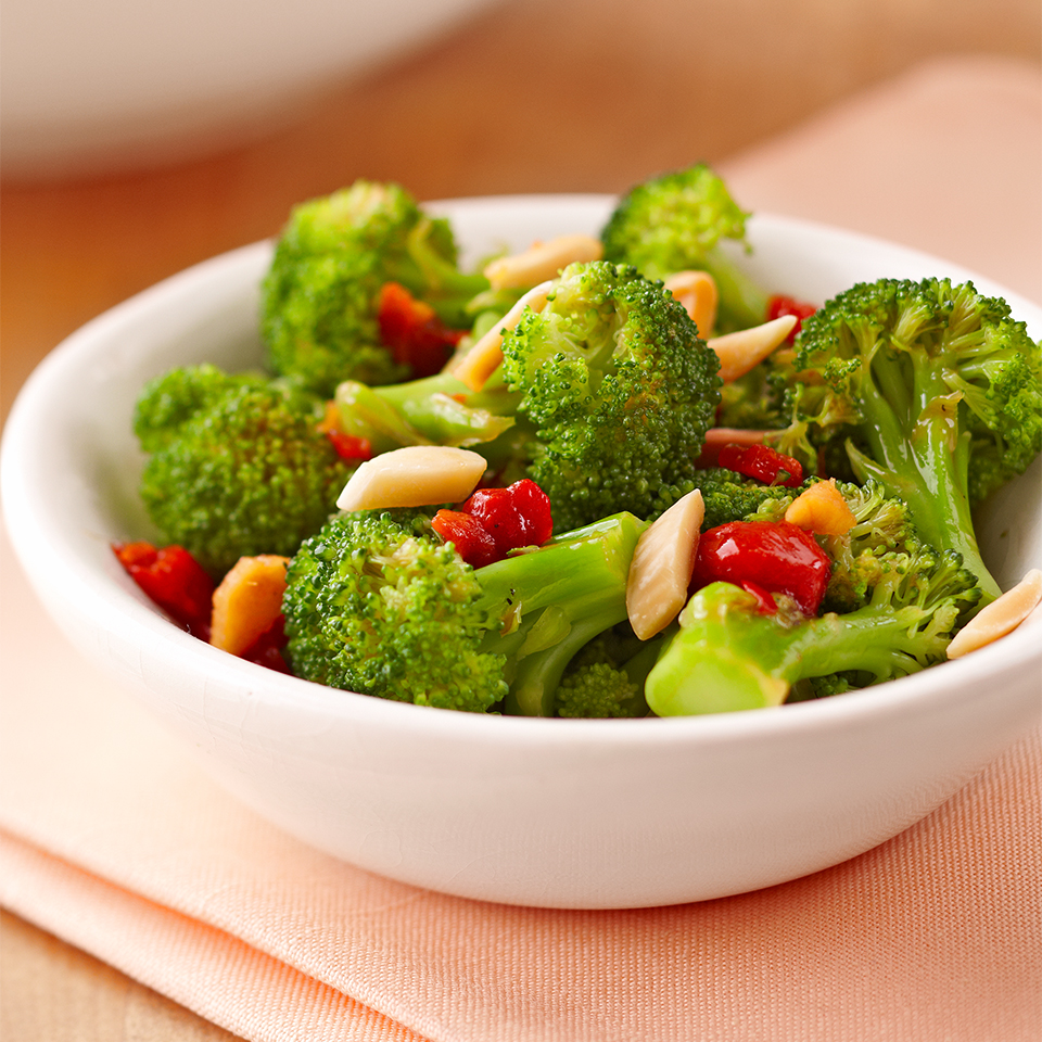 Broccoli with Roasted Red Pepper Diabetic Living Magazine