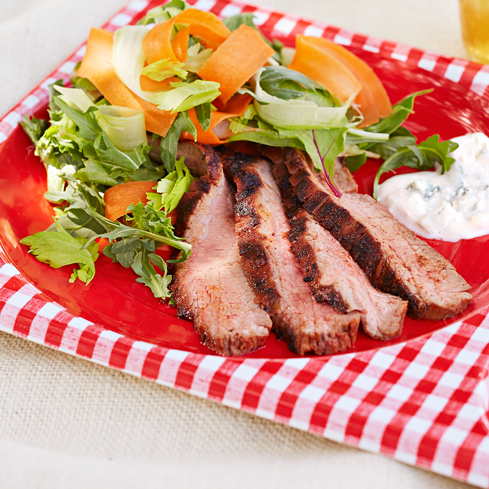 Buffalo-Spiced Steak Salad with Blue Cheese Dressing Allrecipes Trusted Brands