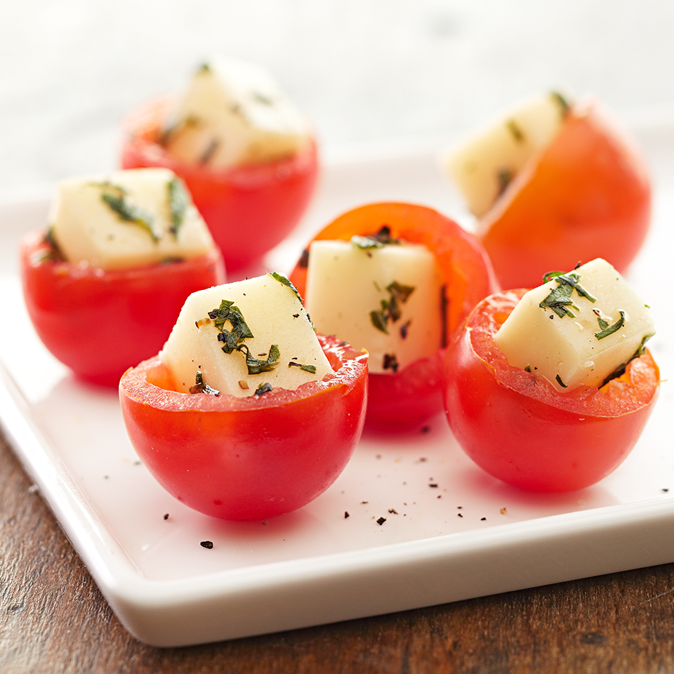 Caprese Stuffed Cherry Tomatoes Diabetic Living Magazine