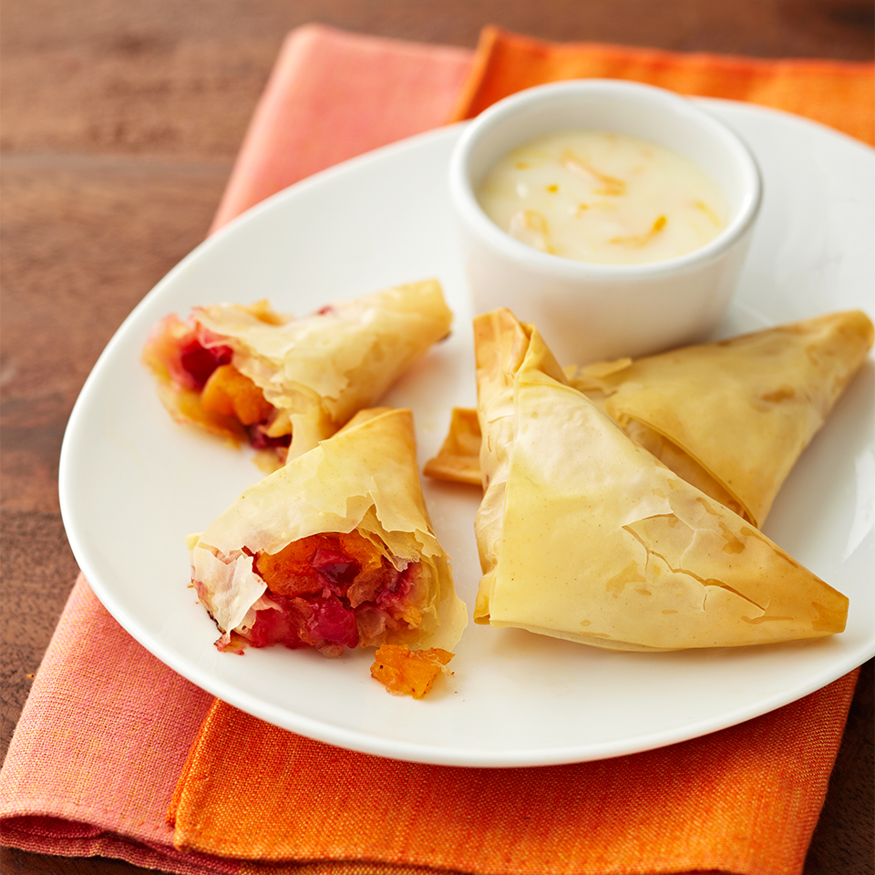 Fruit Triangles with Honey Orange Dipping Sauce Diabetic Living Magazine