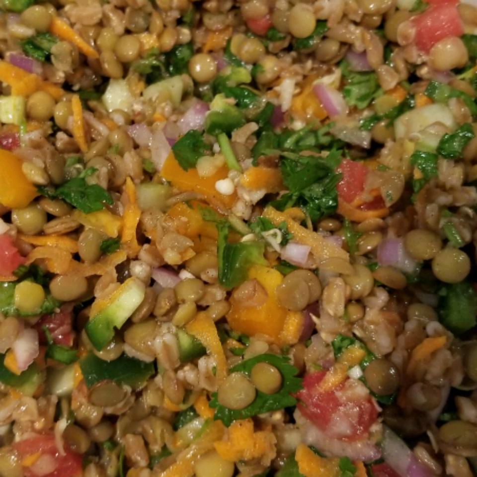 Refreshing Lentil Salad junkyjunky