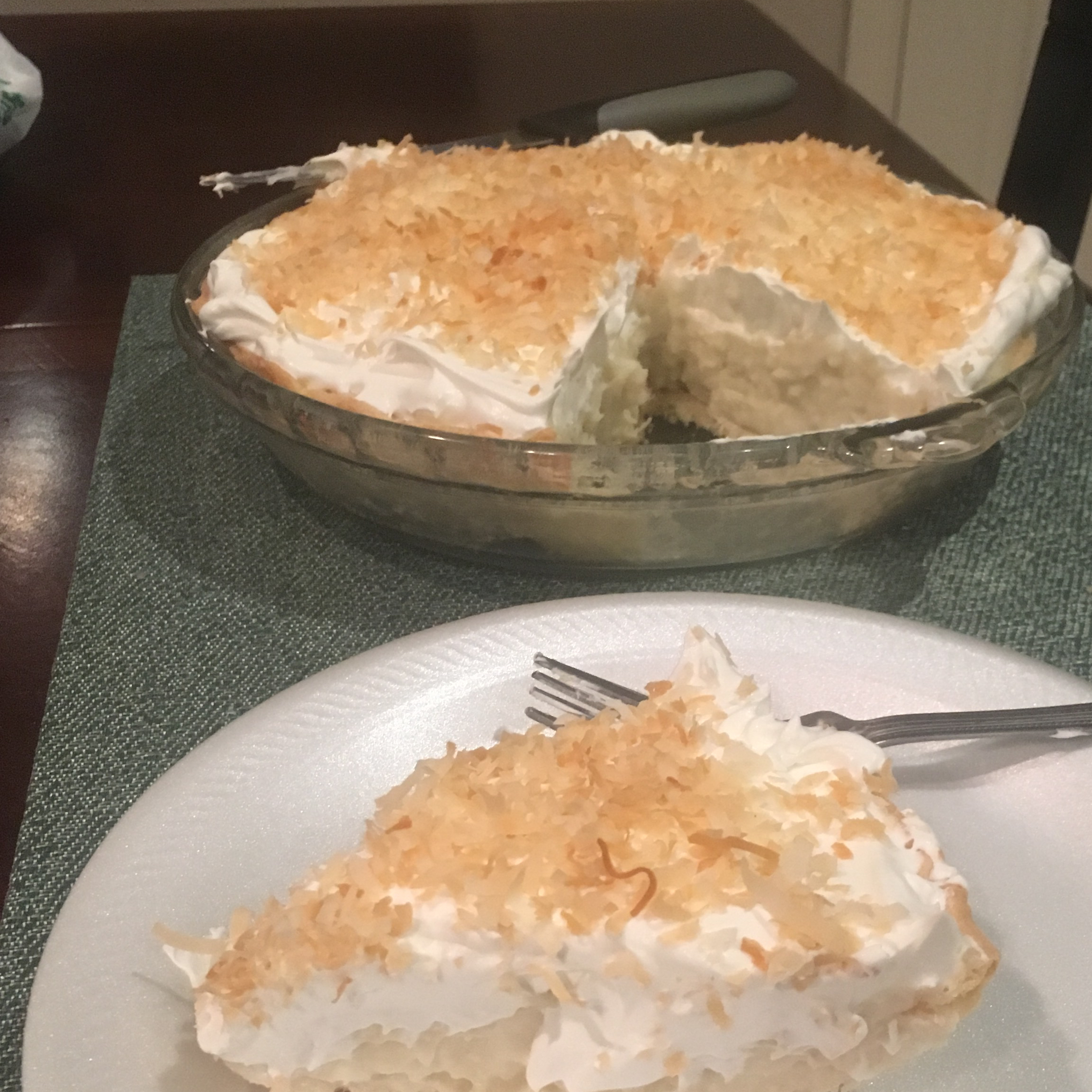 Old Fashioned Coconut Cream Pie jessatsmc