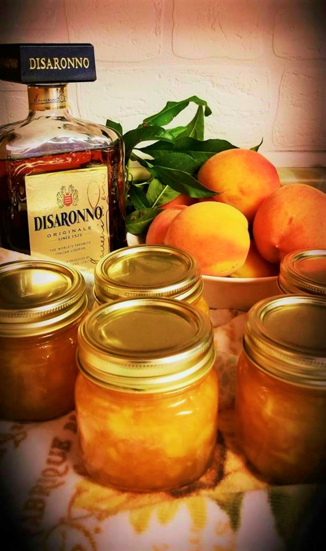 Peach Jam with Amaretto Liqueur Sharon K Schumann