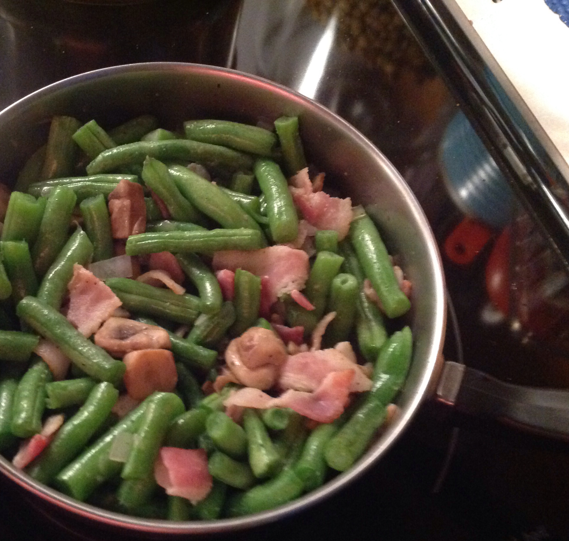 Mushroom and Bacon Green Beans ruth jolly