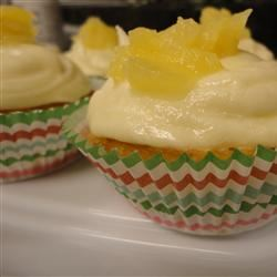 Pineapple Cupcakes with Buttercream Frosting Jen