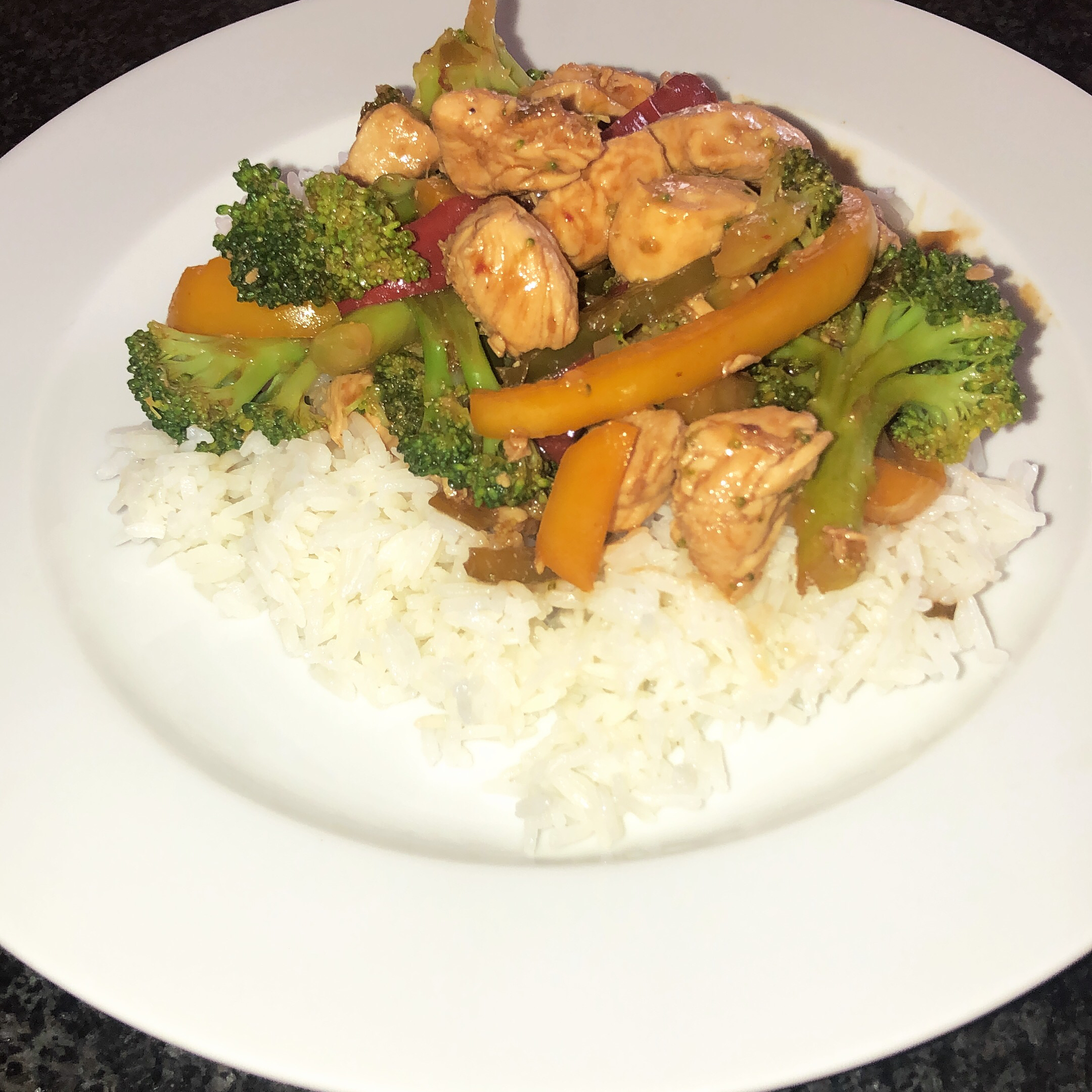 Sweet and Spicy Stir Fry with Chicken and Broccoli kimberly blumgart