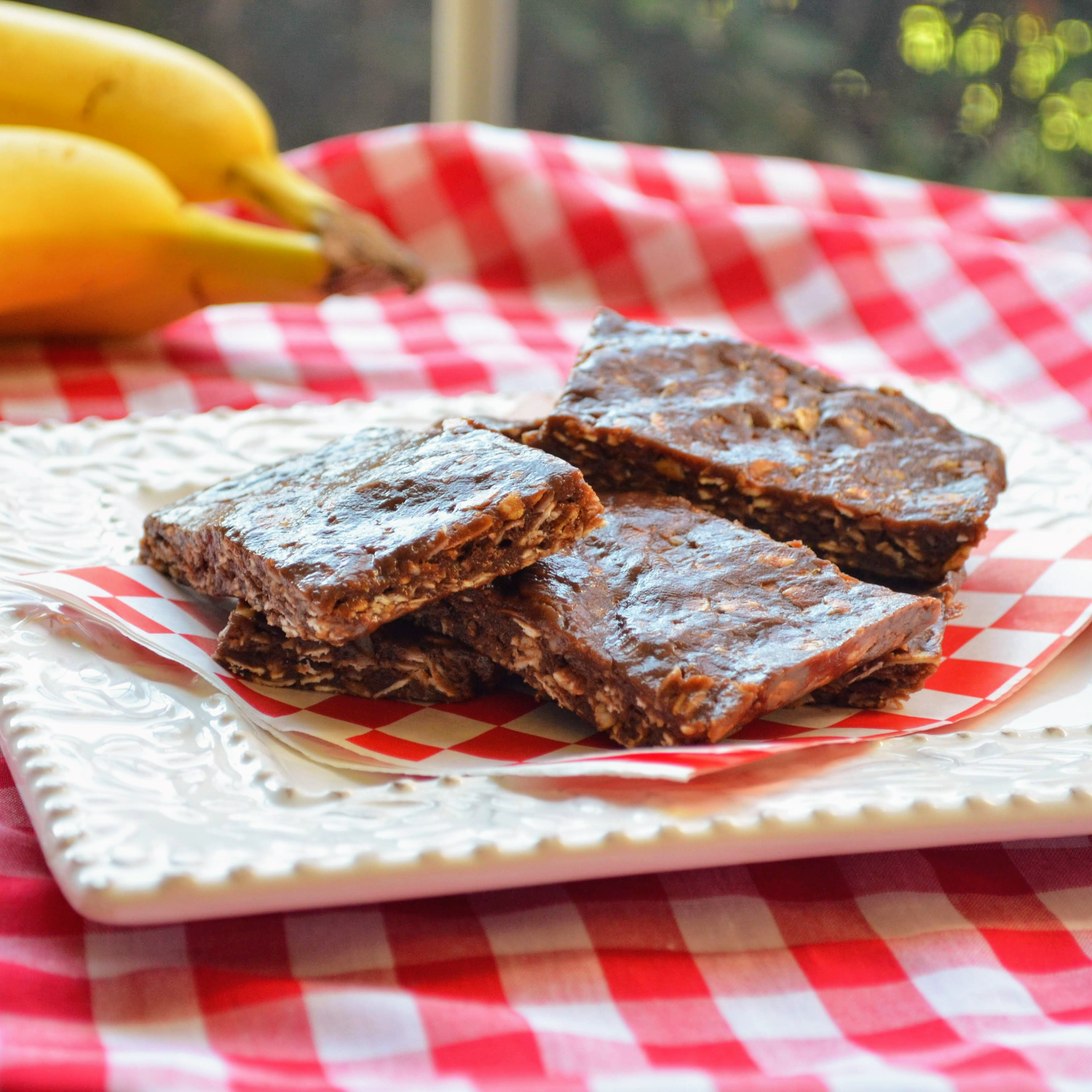 Soft and Chewy Chocolate-Banana Oat Bars Kim's Cooking Now