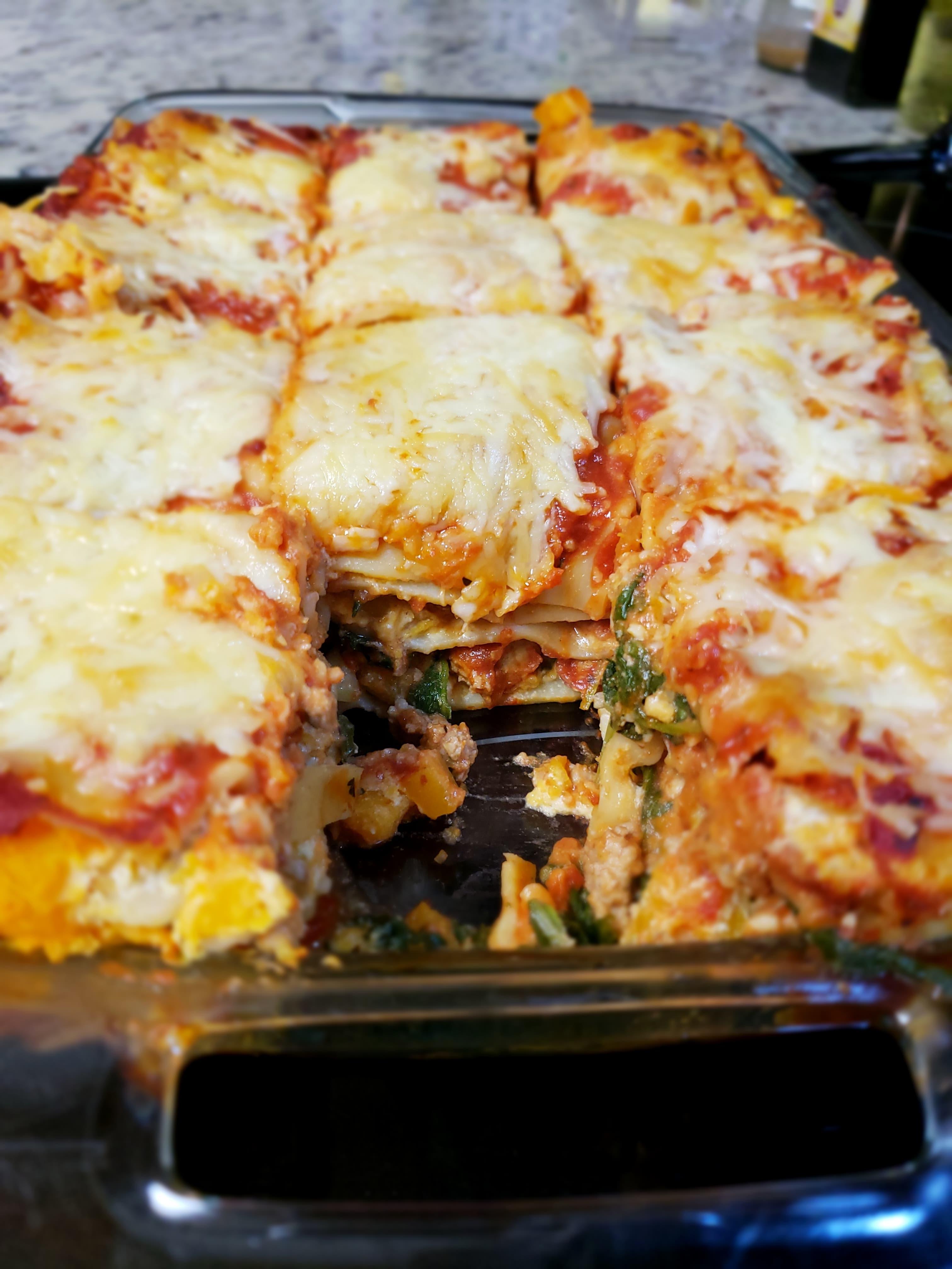 Biddy's Butternut Squash and Turkey Lasagna