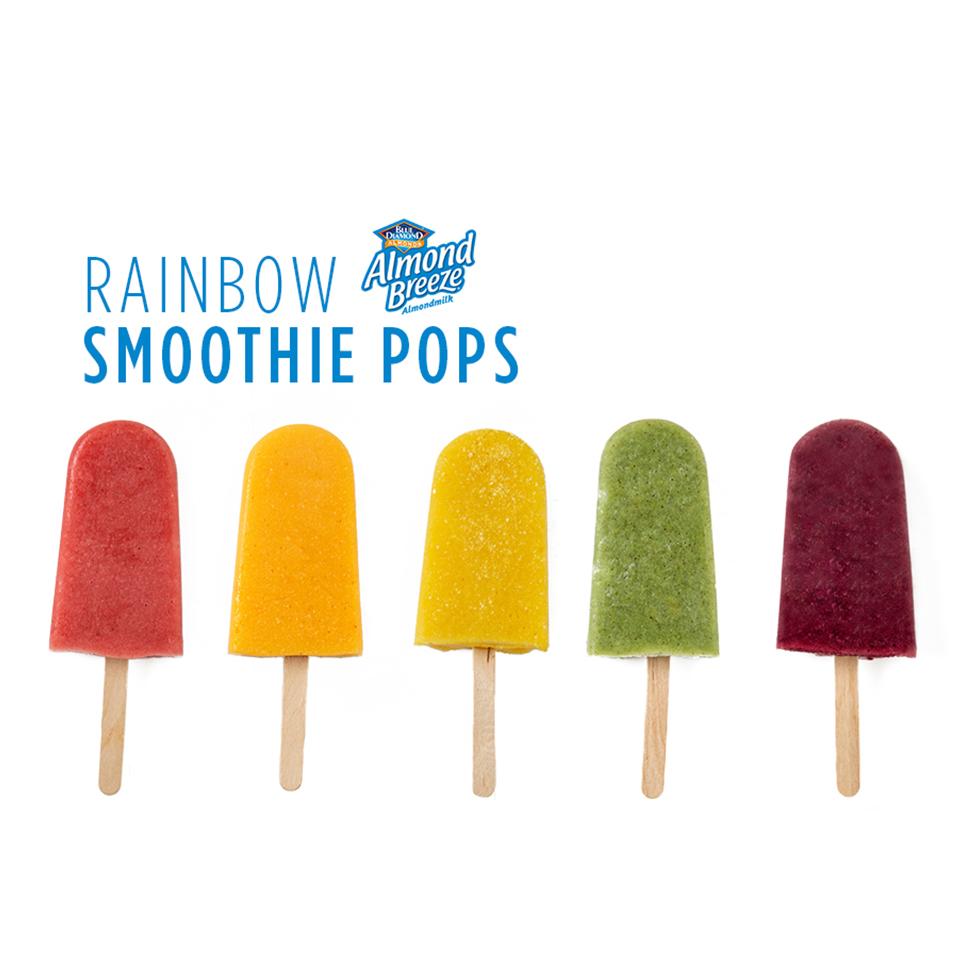 Rainbow Smoothie Pops
