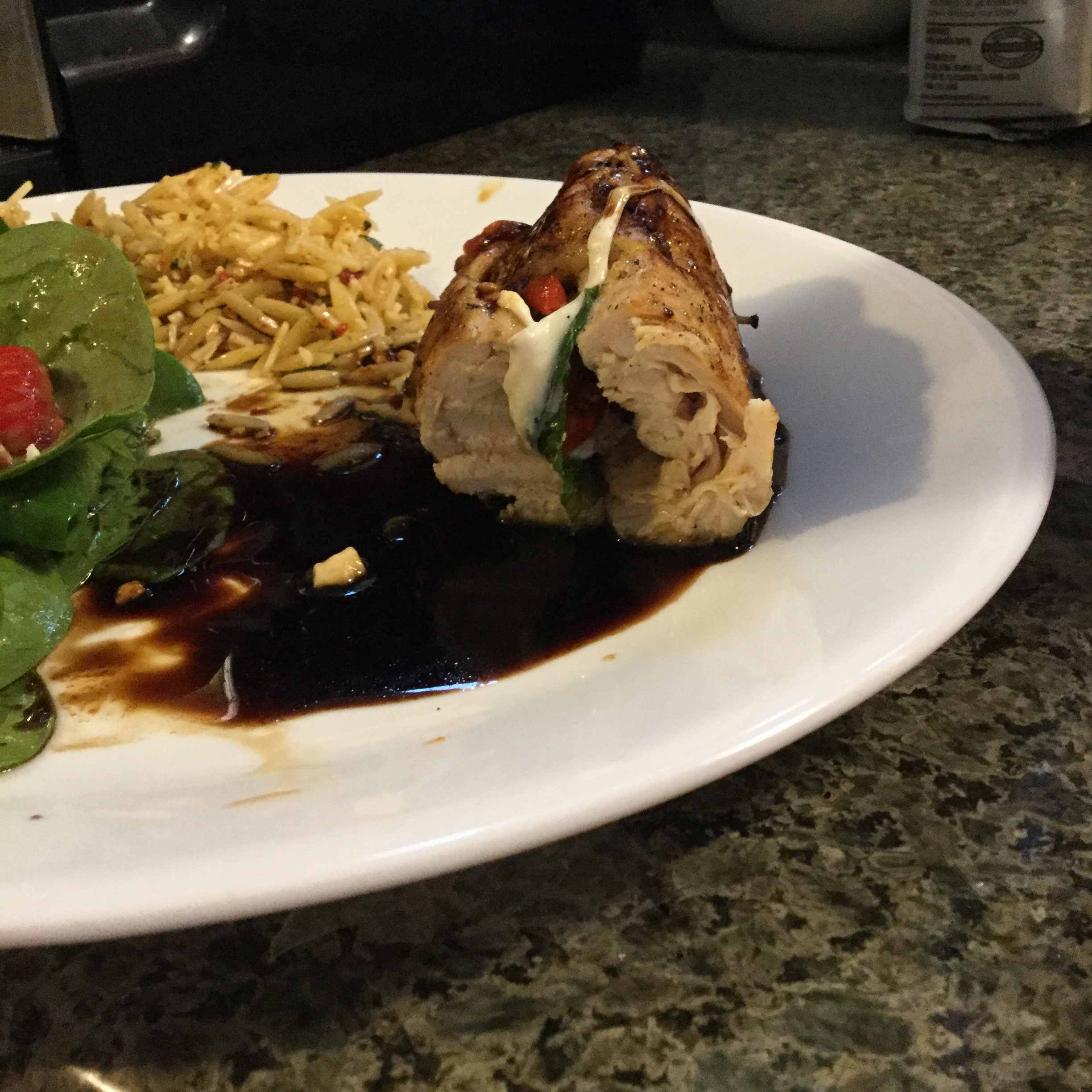 Caprese-Stuffed Chicken Breast with Balsamic Reduction janefee