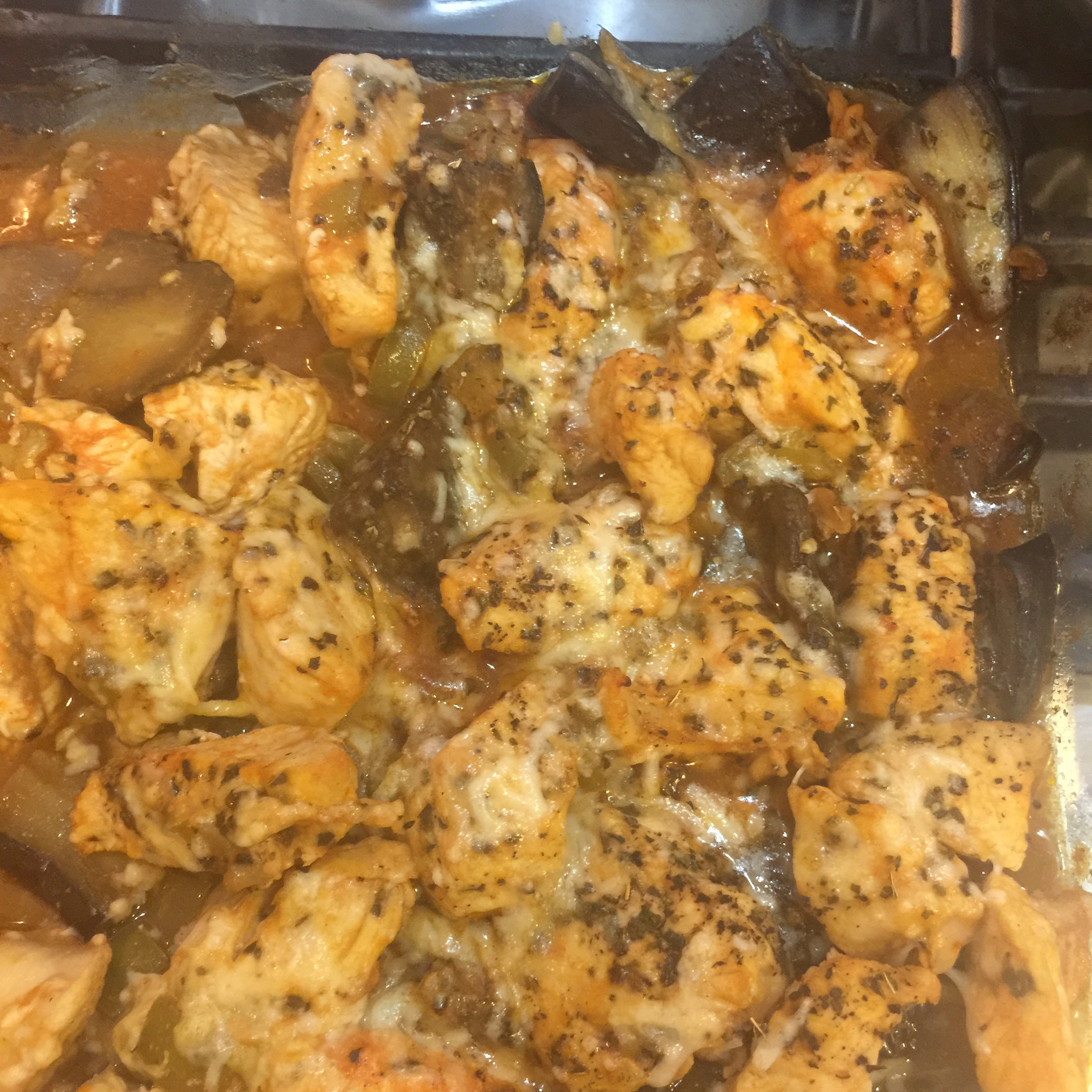 Mediterranean Chicken with Eggplant Shawna Robert Hilliard