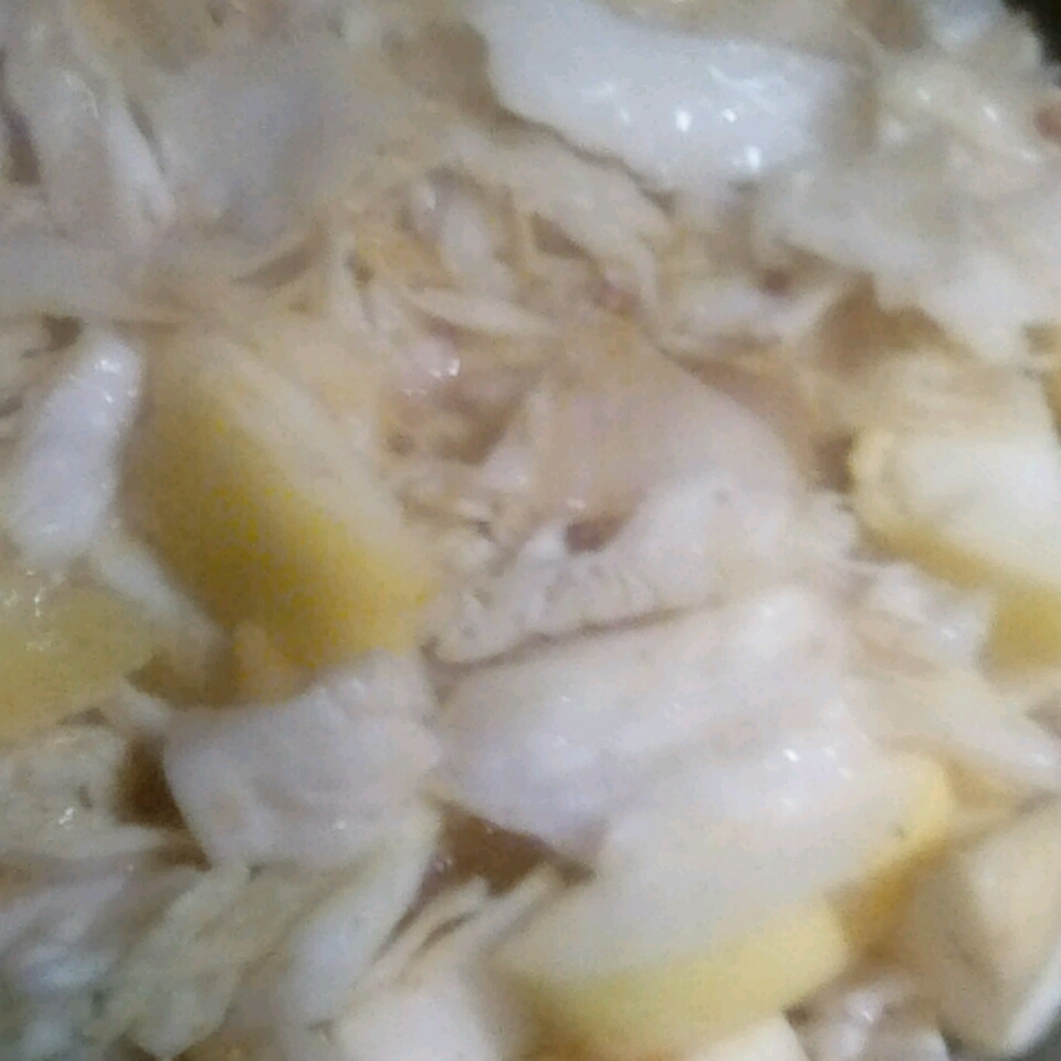 Creamy Cabbage with Apples and Bacon grandmakar