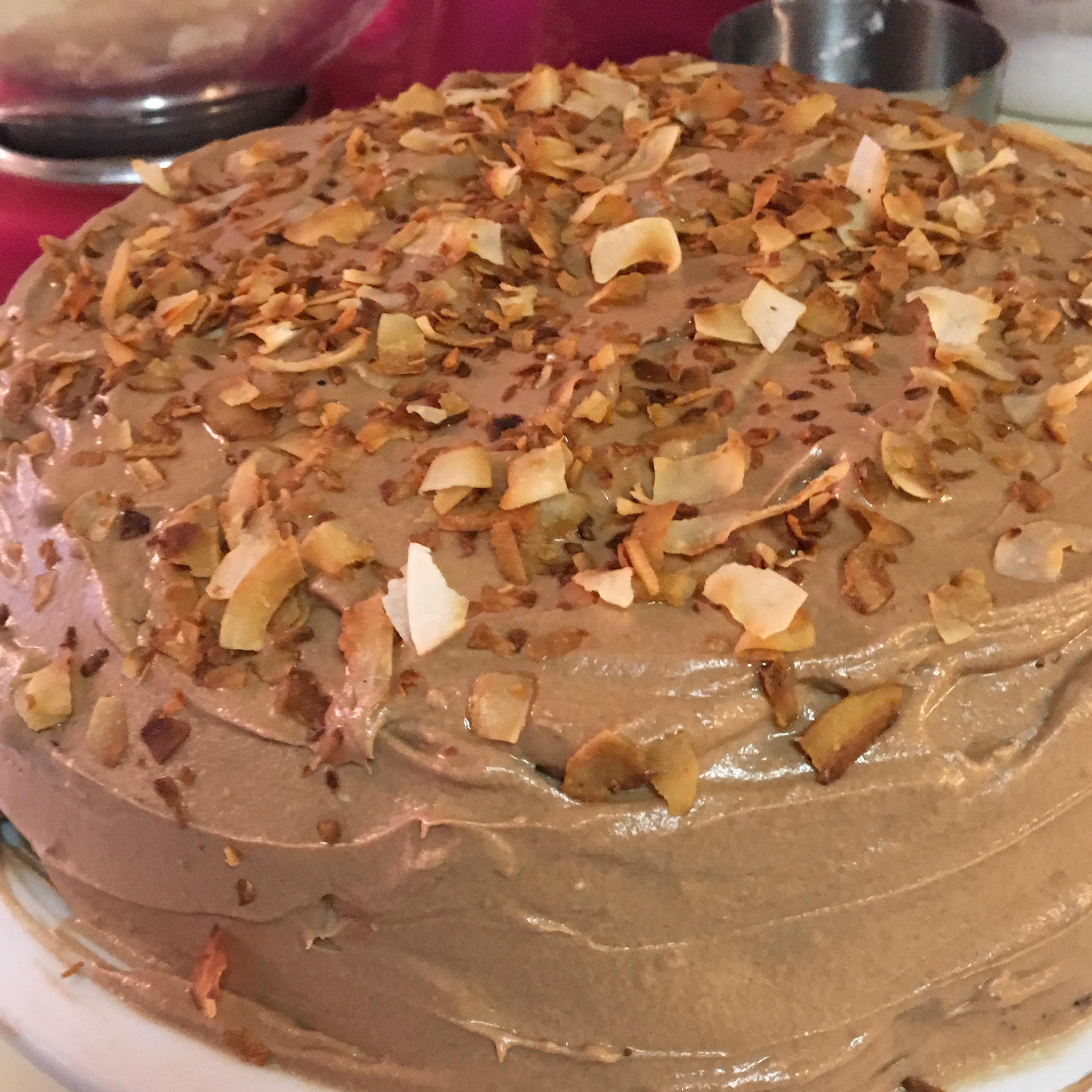 Chocolate Coconut Cream Cheese Frosting Evelyn Kellogg