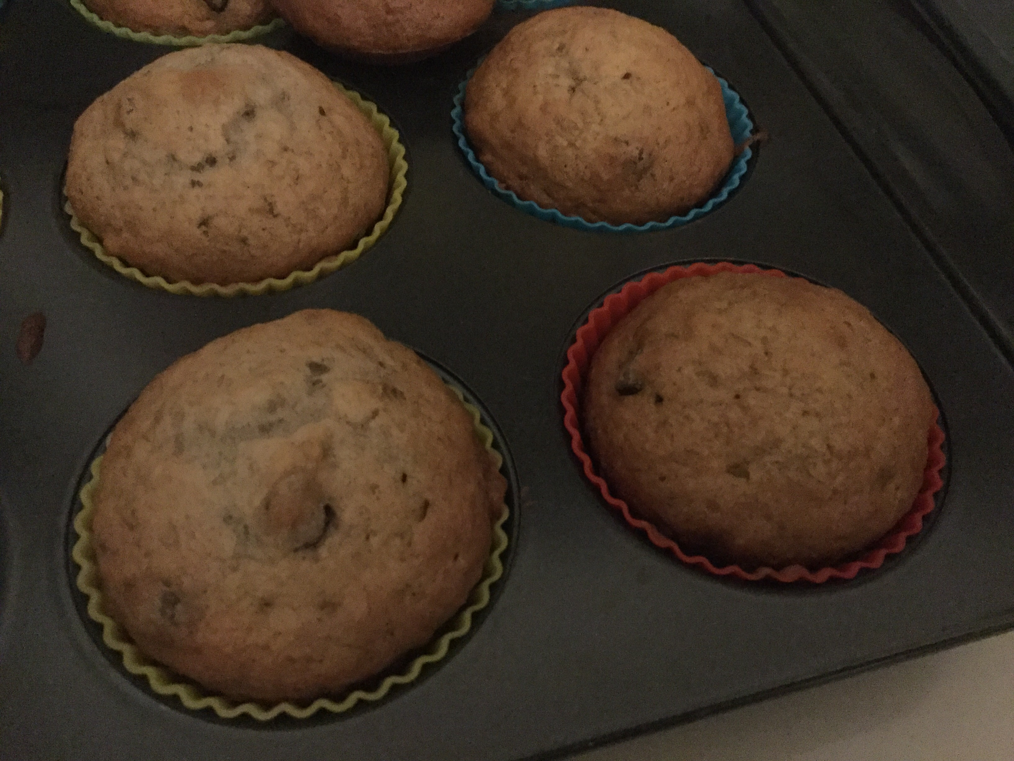 Most Requested Banana Chocolate Chip Muffins rileysmom