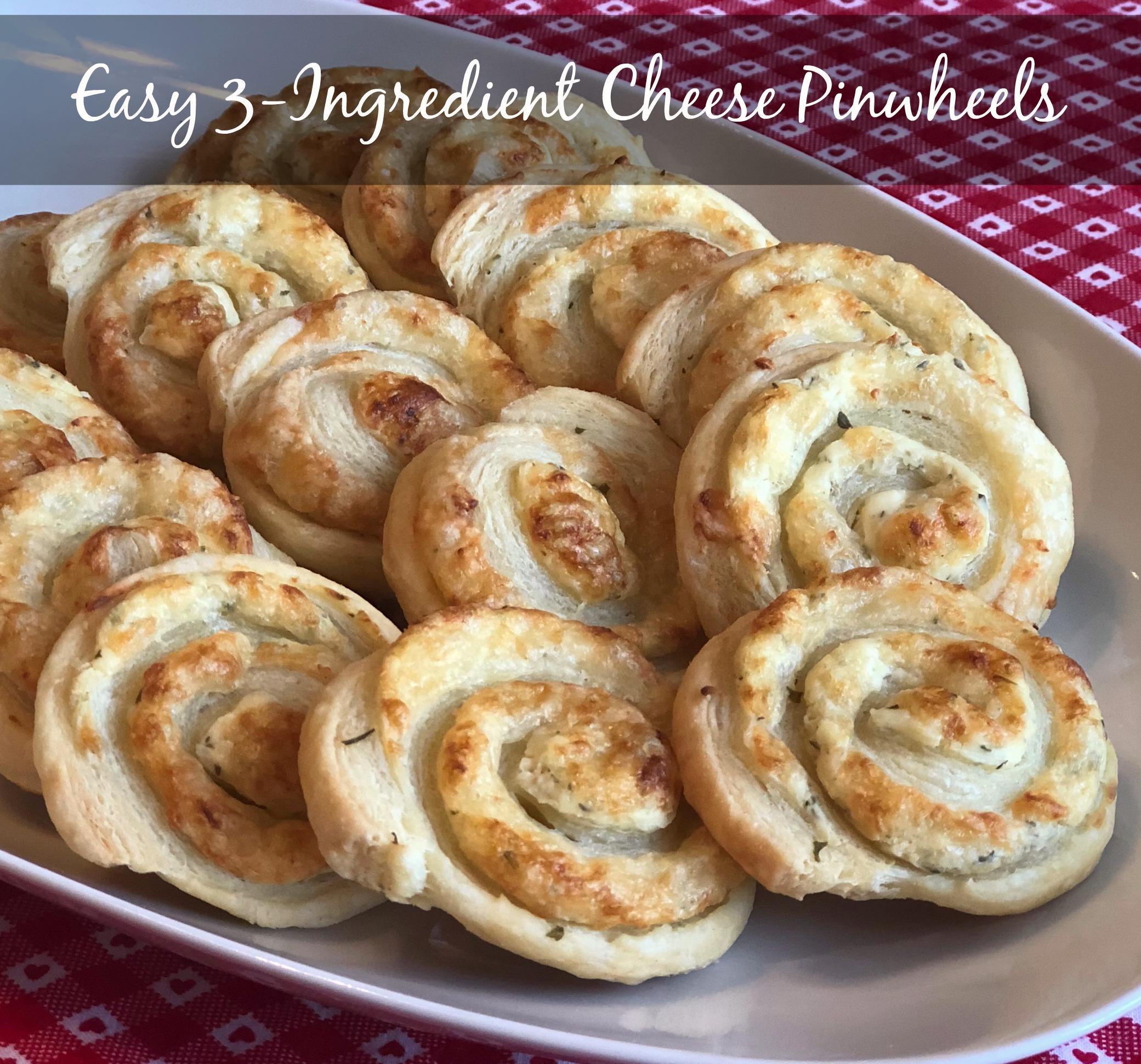 Easy 3-Ingredient Cheese Pinwheels Happyschmoopies