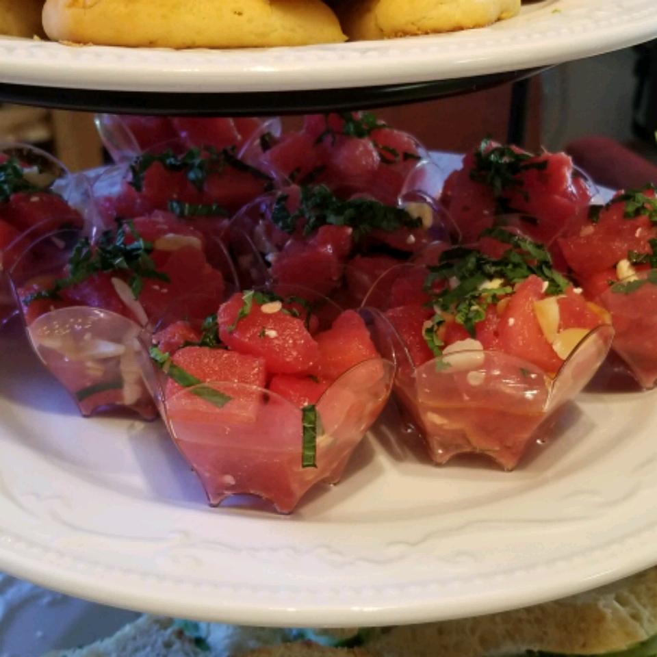 Watermelon, Almond, Feta and Mint Salad PsychDiva