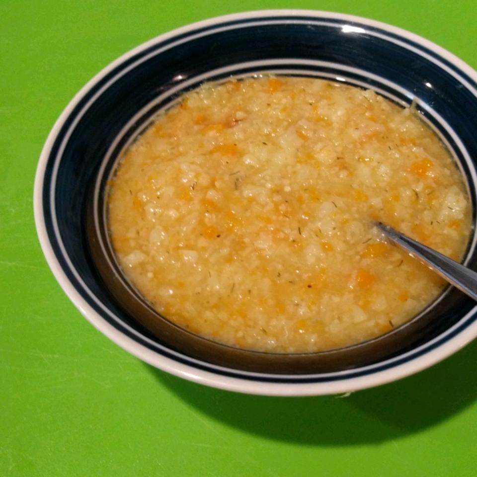 Healthier Potato and Cauliflower Soup Elizabeth Vaiana